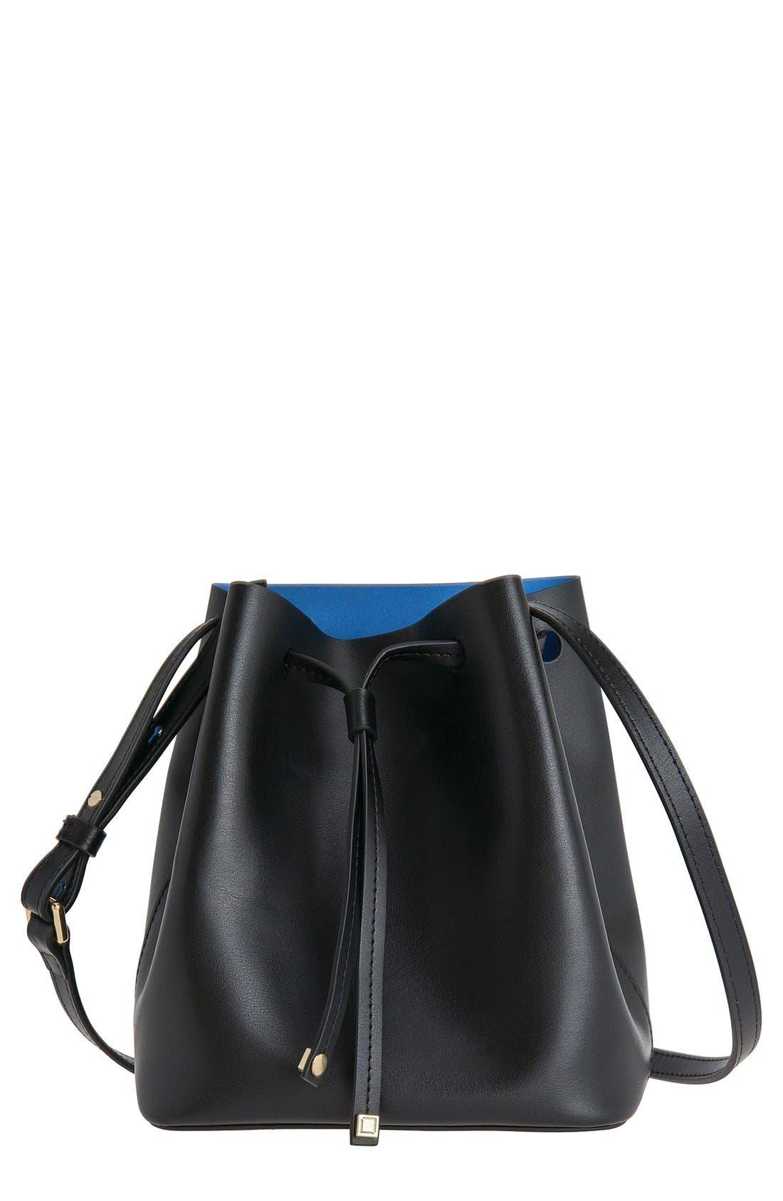 Lodis 'Small Blake' Drawstring Bucket Bag,                             Main thumbnail 1, color,                             001