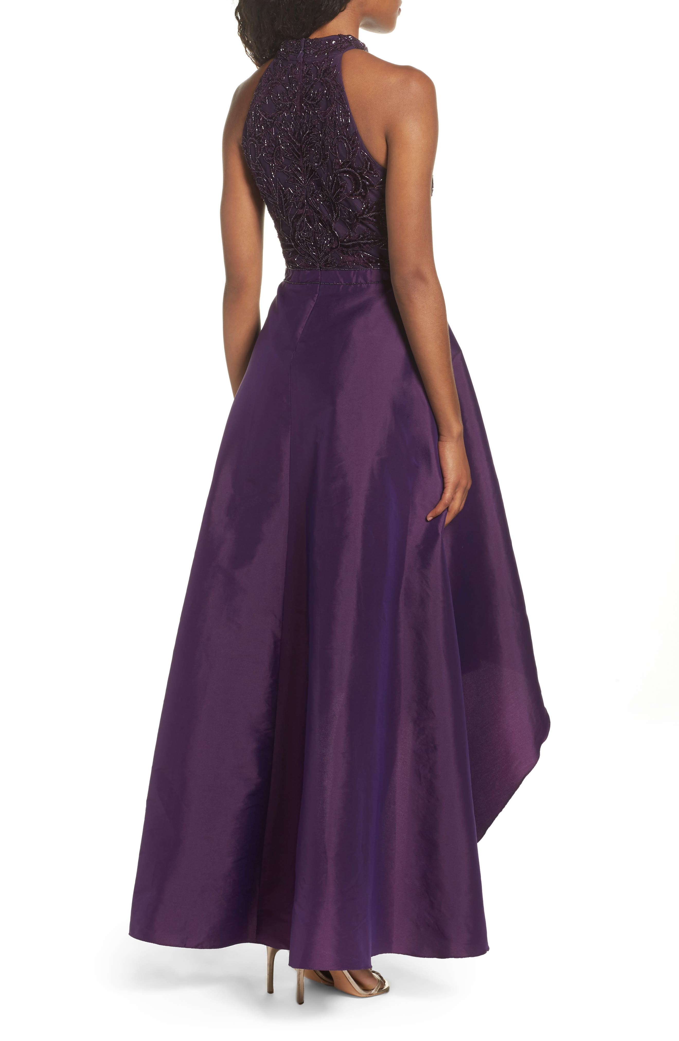 Embellished Taffeta High/Low Gown,                             Alternate thumbnail 2, color,                             501