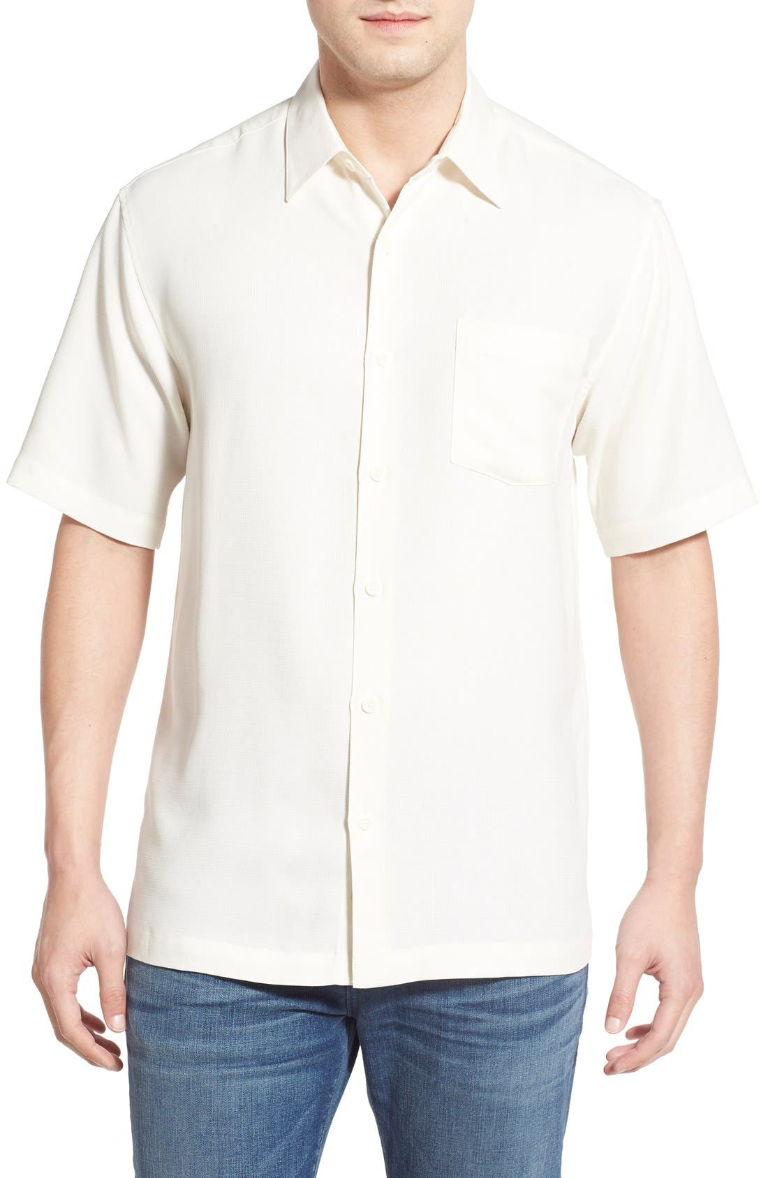 'Wind N Sea' Regular Fit Sport Shirt,                         Main,                         color, OFF WHITE