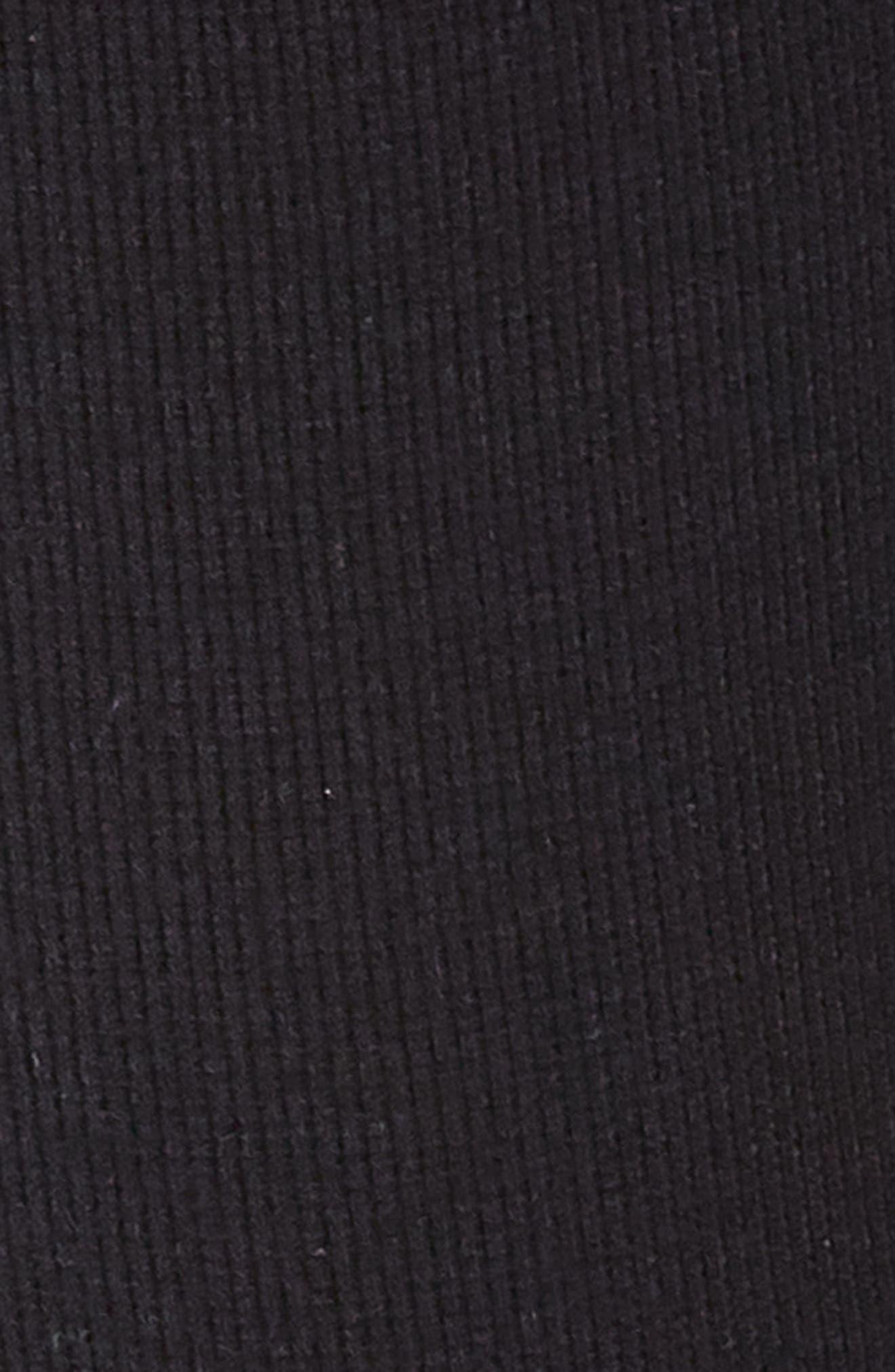 Long Sleeve Bodysuit,                             Alternate thumbnail 5, color,                             BLACK