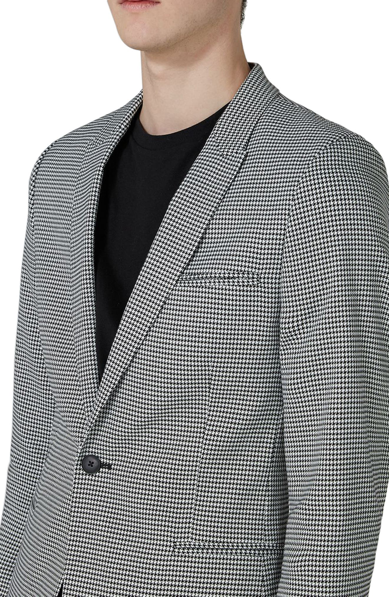 Ultra Skinny Fit Houndstooth Suit Jacket,                             Alternate thumbnail 3, color,                             020
