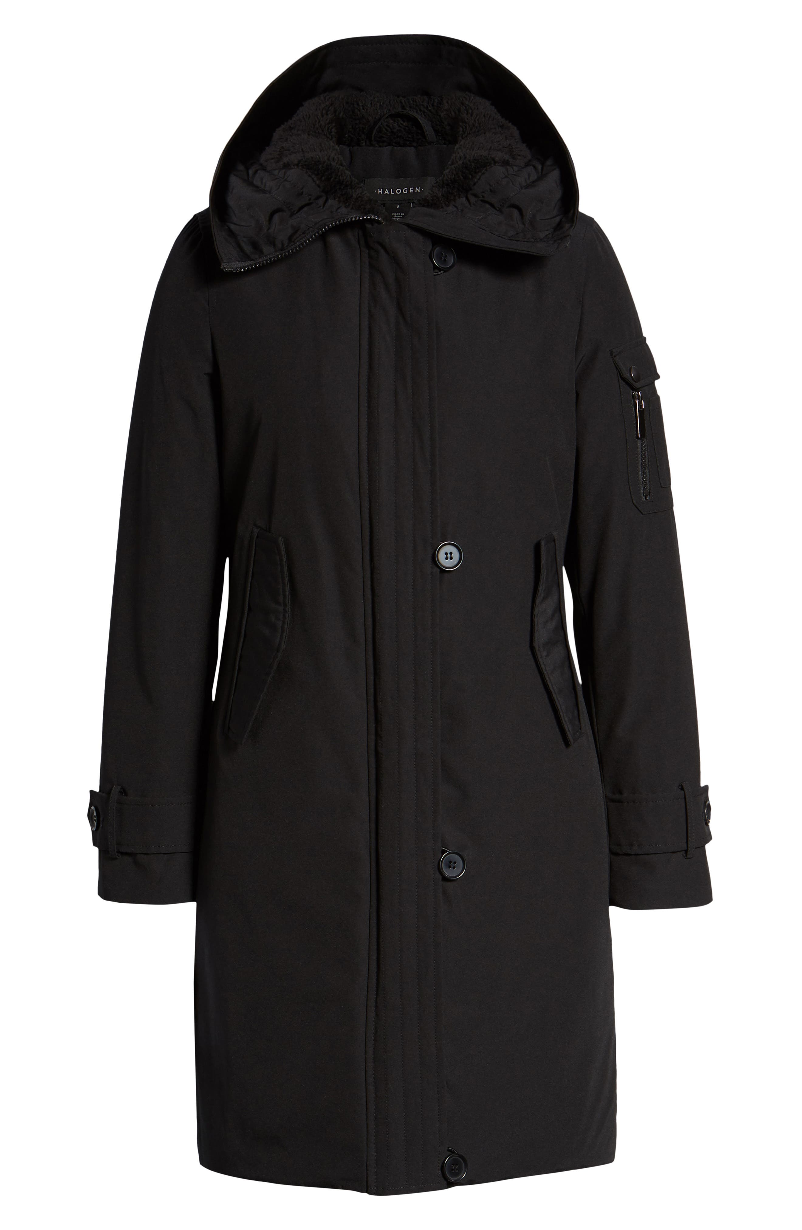 Heavyweight Parka,                             Alternate thumbnail 6, color,                             BLACK