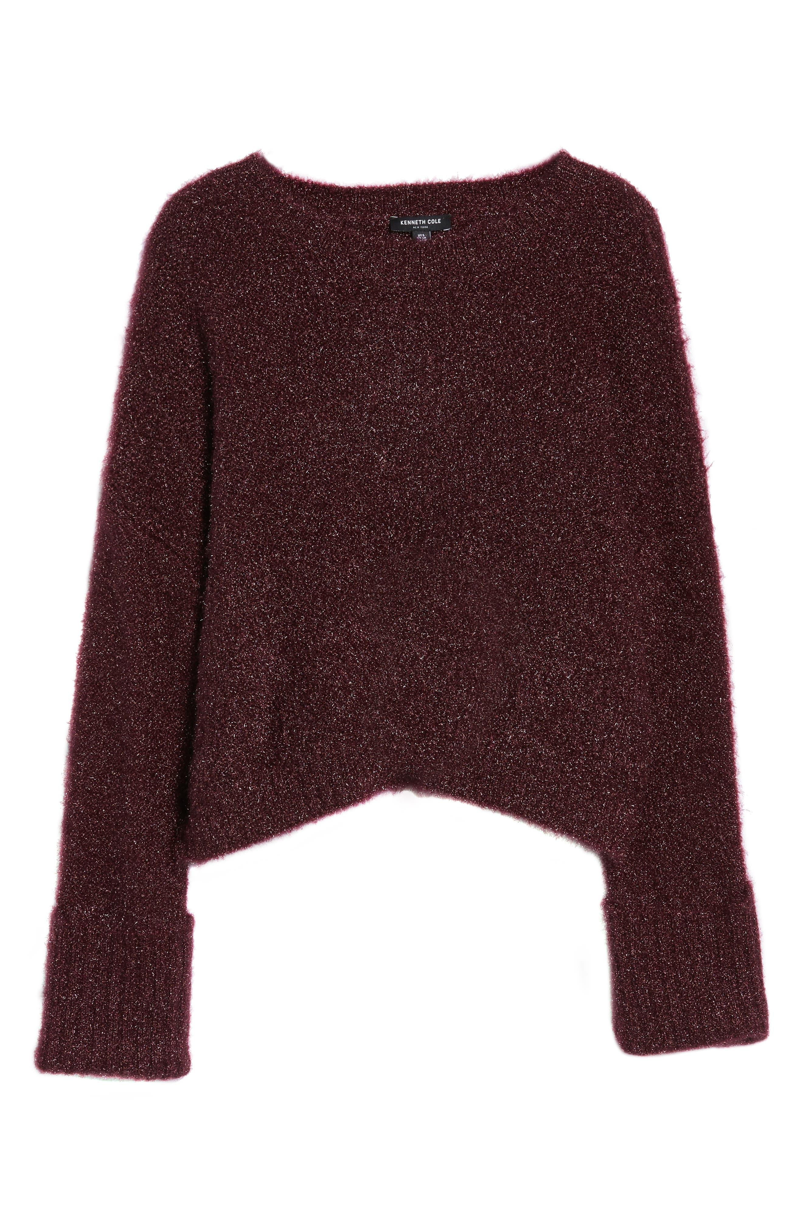Large Cuff Crop Sweater,                             Alternate thumbnail 12, color,
