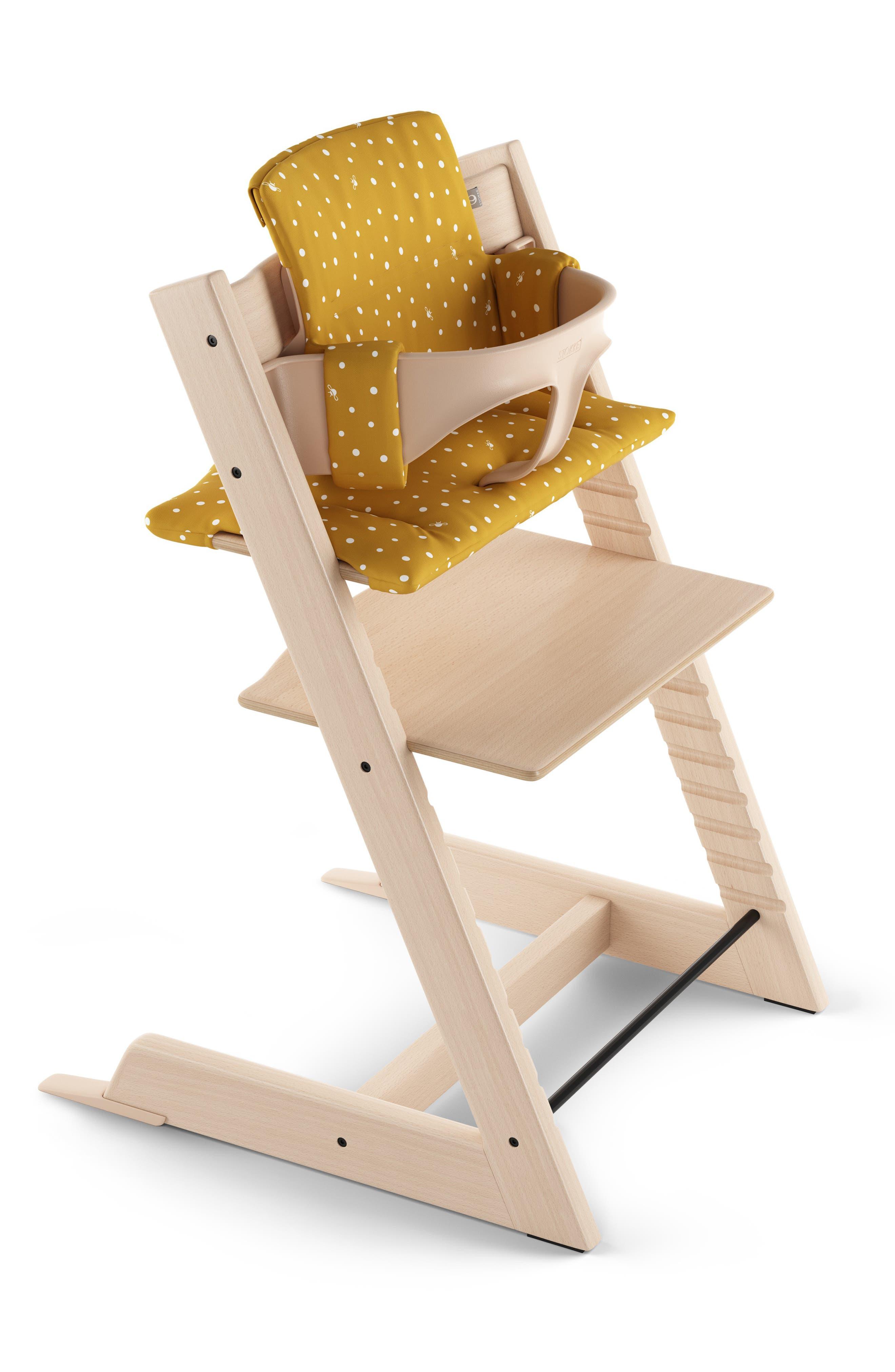 Tripp Trapp<sup>®</sup> Classic Seat Cushions,                             Alternate thumbnail 2, color,                             OCKER BEE
