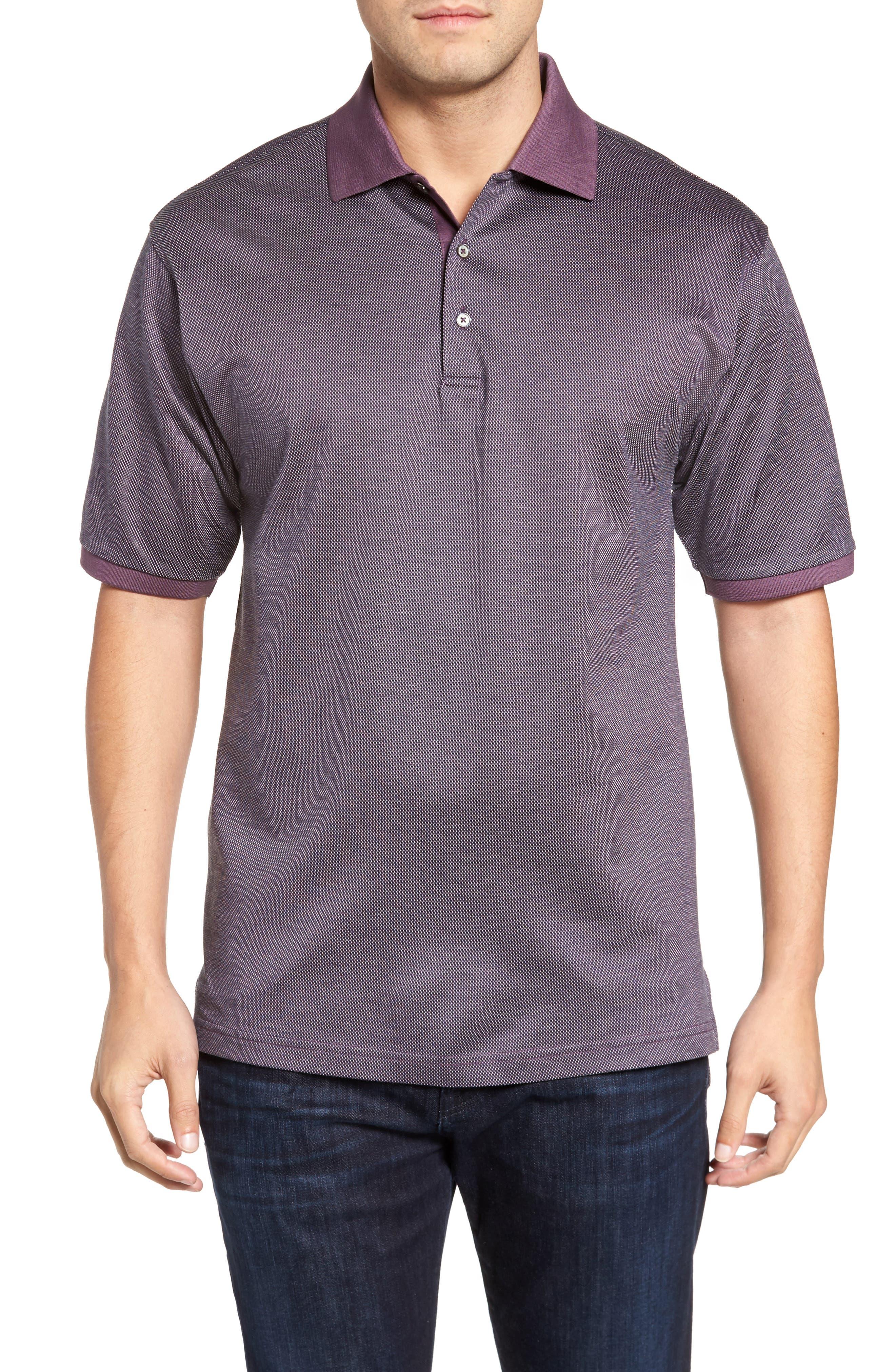 Verde Jacquard Mercerized Cotton Polo,                             Main thumbnail 2, color,