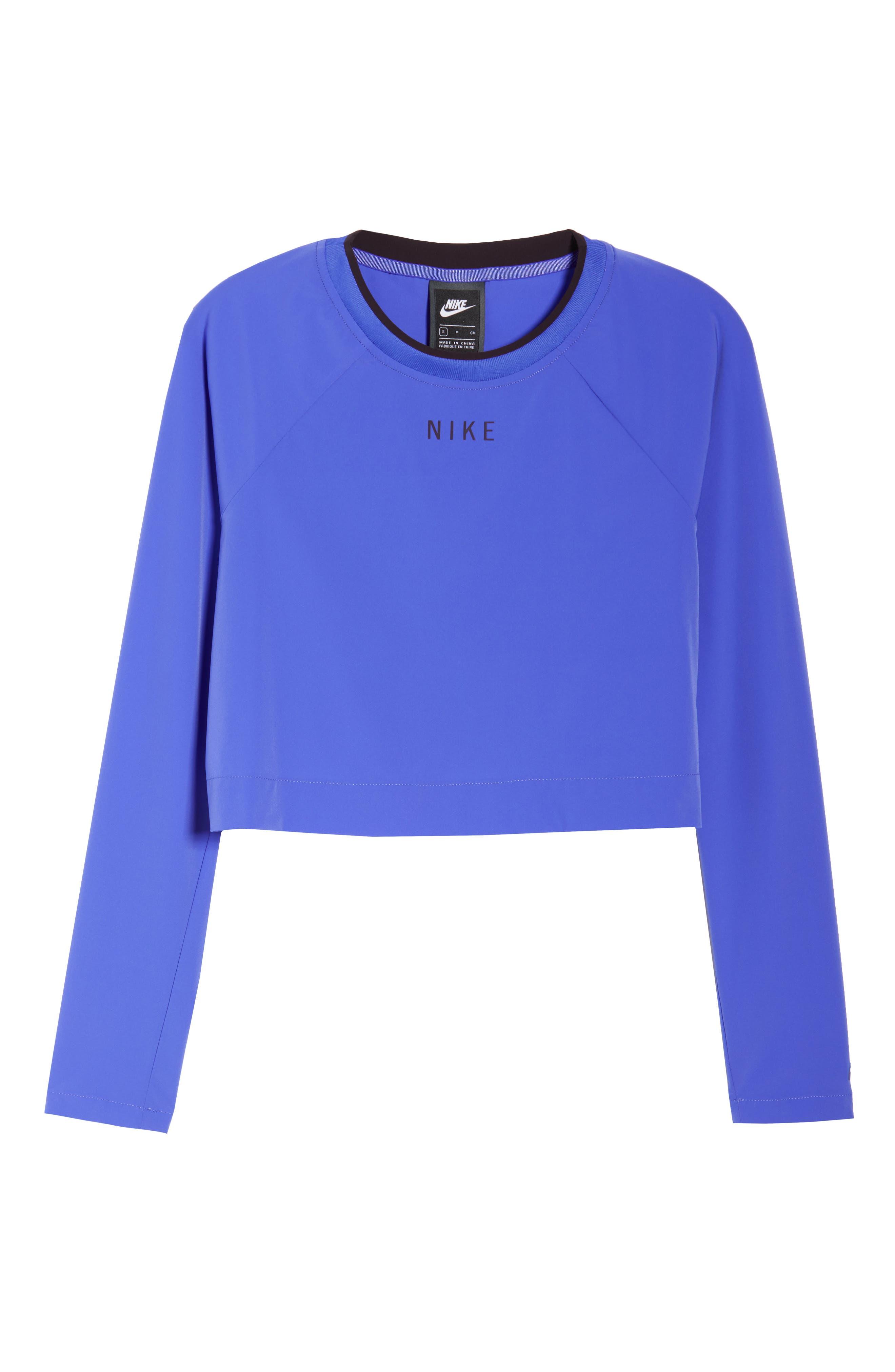Sportswear Tech Pack Women's Long Sleeve Top,                             Alternate thumbnail 7, color,                             PERSIAN VIOLET/ BURGUNDY ASH