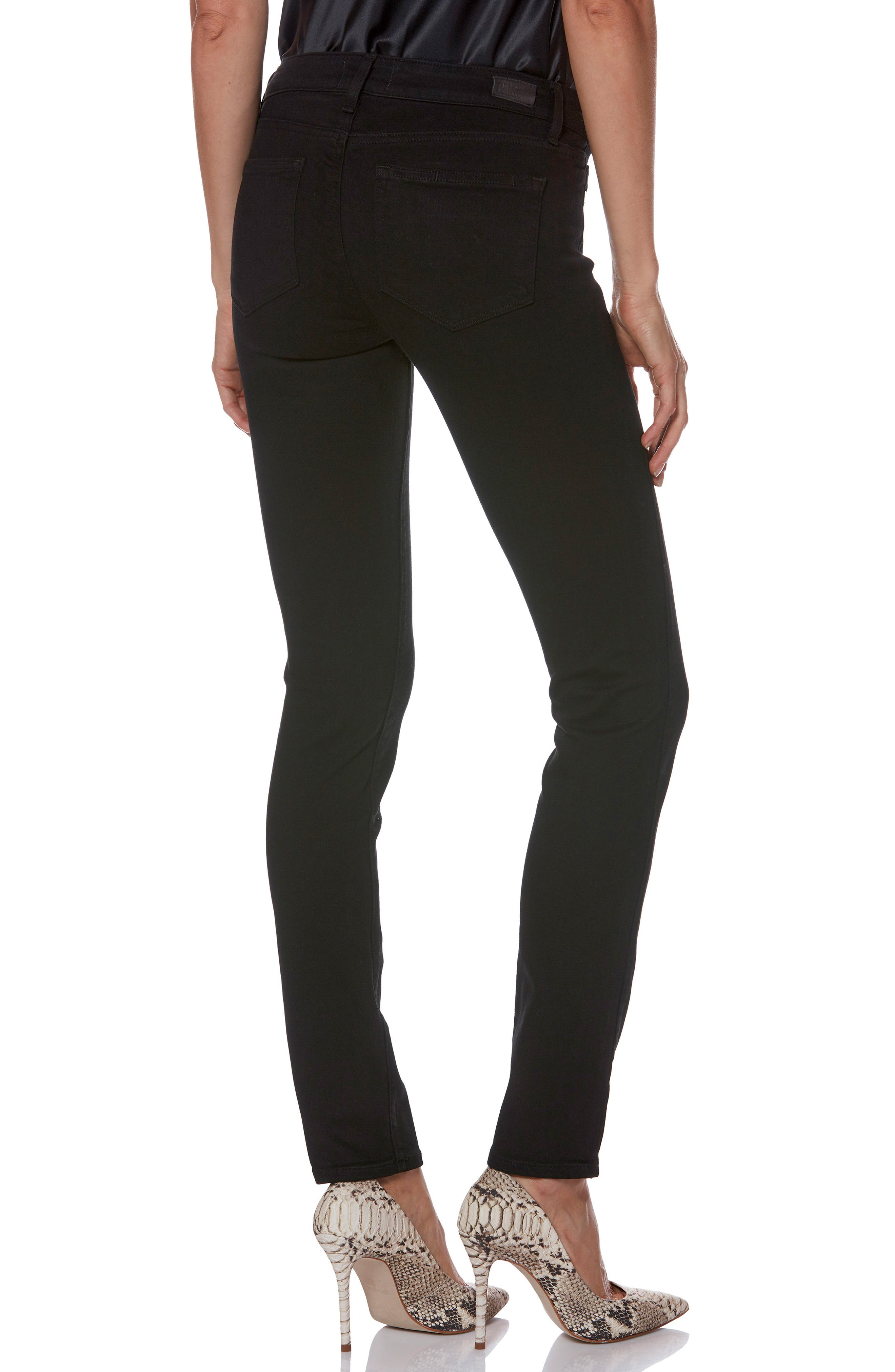 Transcend - Skyline Skinny Jeans,                             Alternate thumbnail 3, color,                             BLACK SHADOW