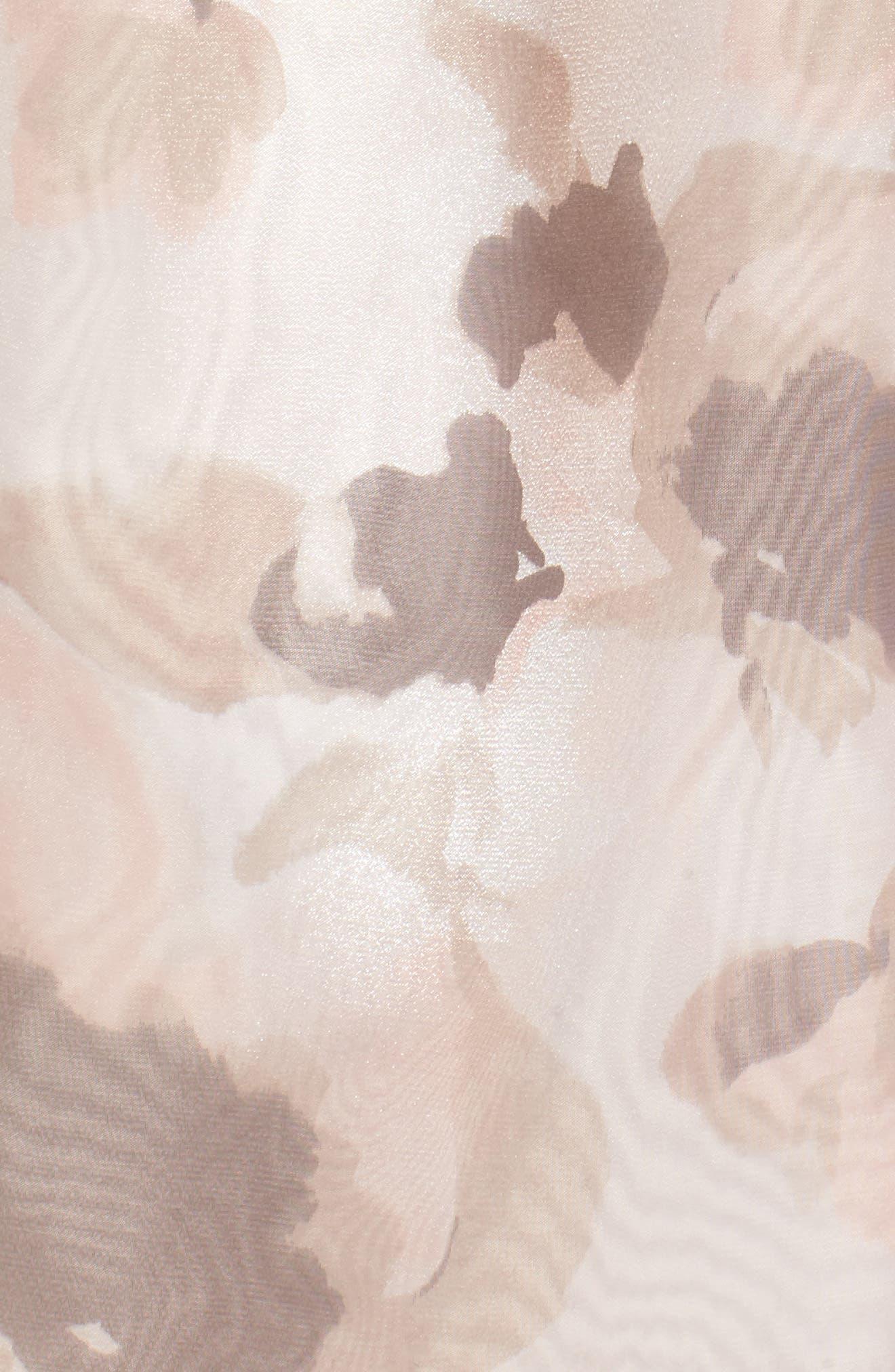 Embellished Belt Print Organza Ballgown,                             Alternate thumbnail 5, color,