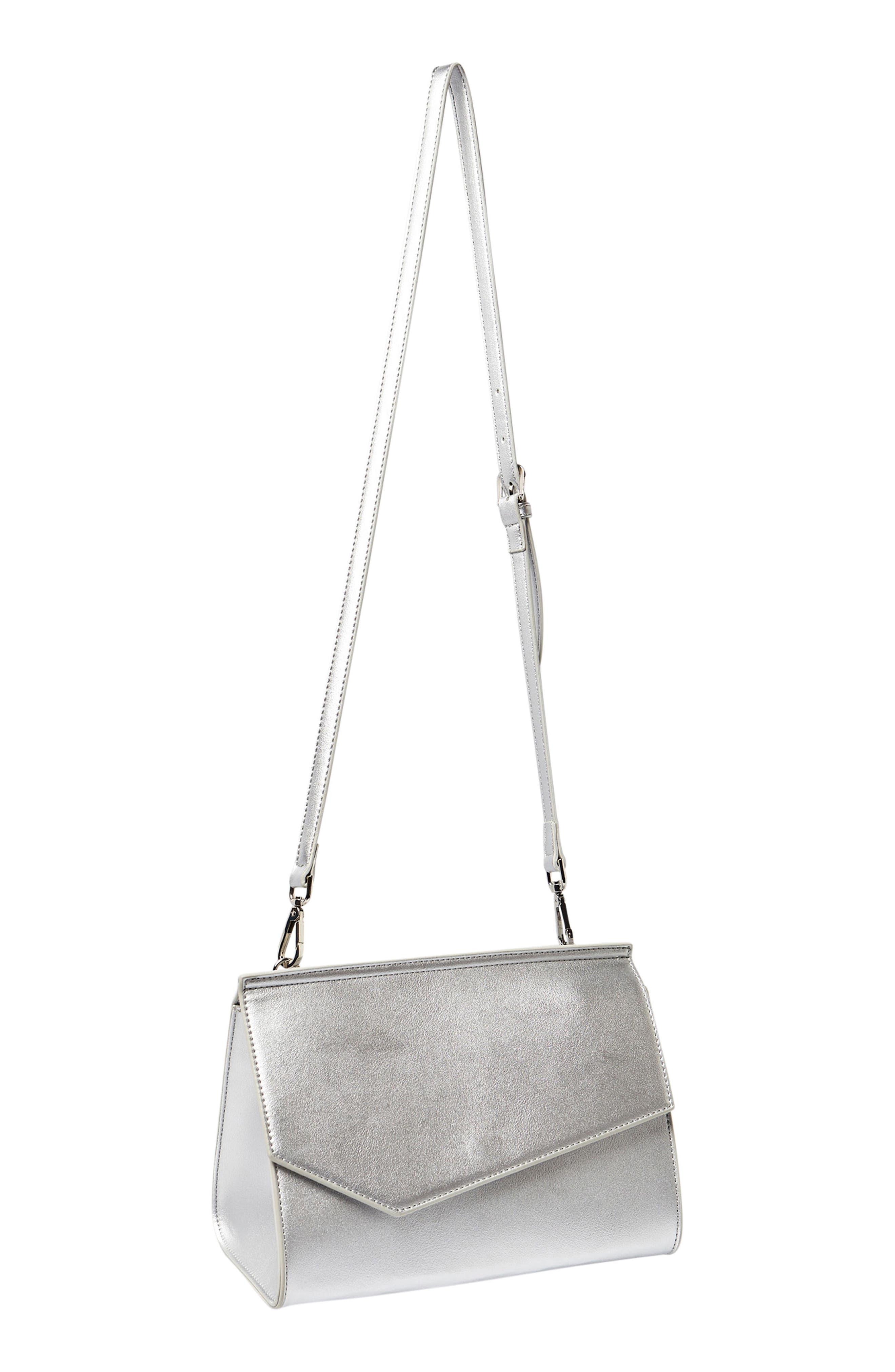 Shimmer Vegan Leather Shoulder Bag,                             Alternate thumbnail 5, color,