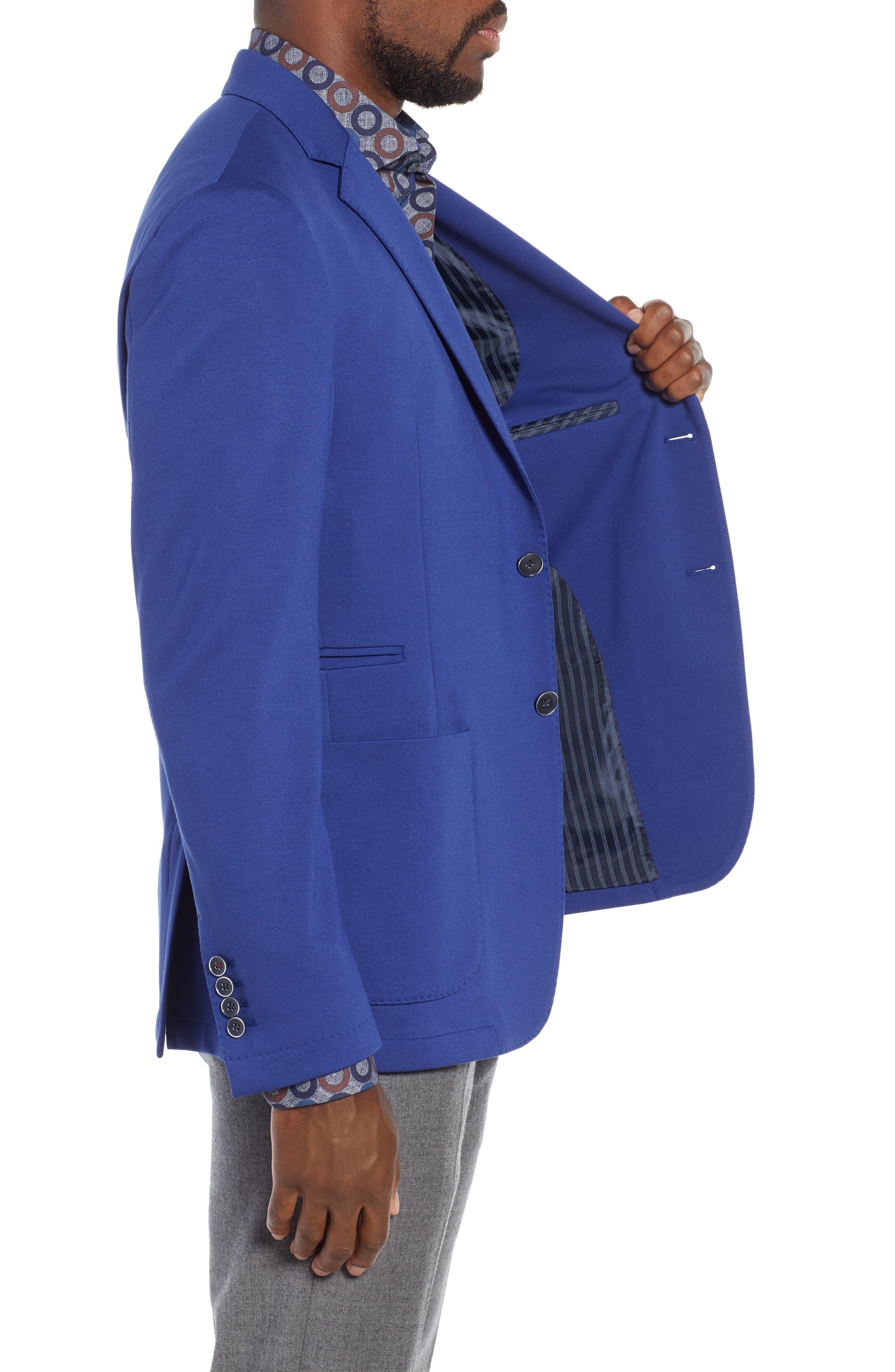 Solid Sport Coat,                             Alternate thumbnail 3, color,                             NIGHT BLUE