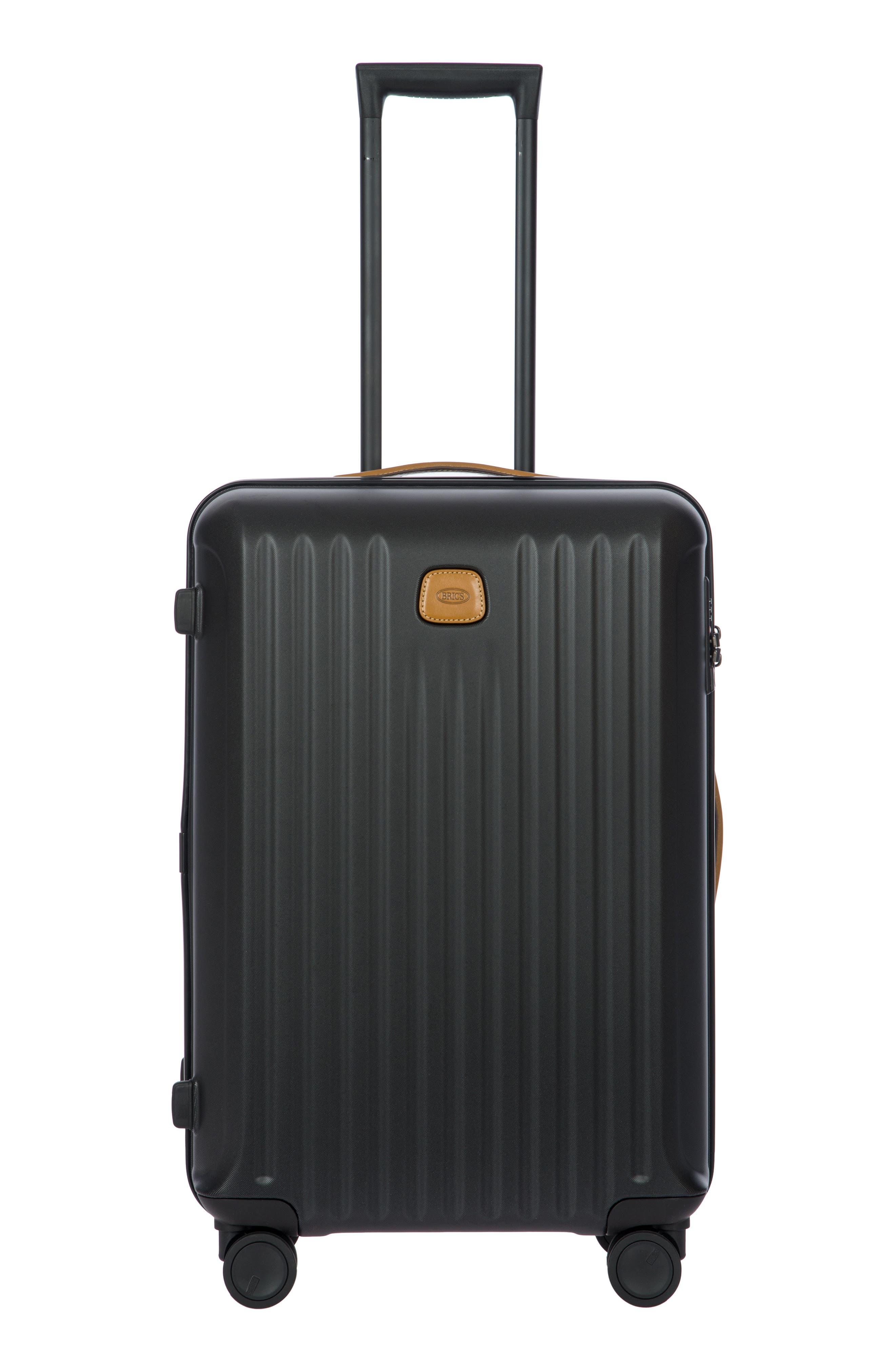 Capri 27-Inch Rolling Suitcase - Black in Matte Black