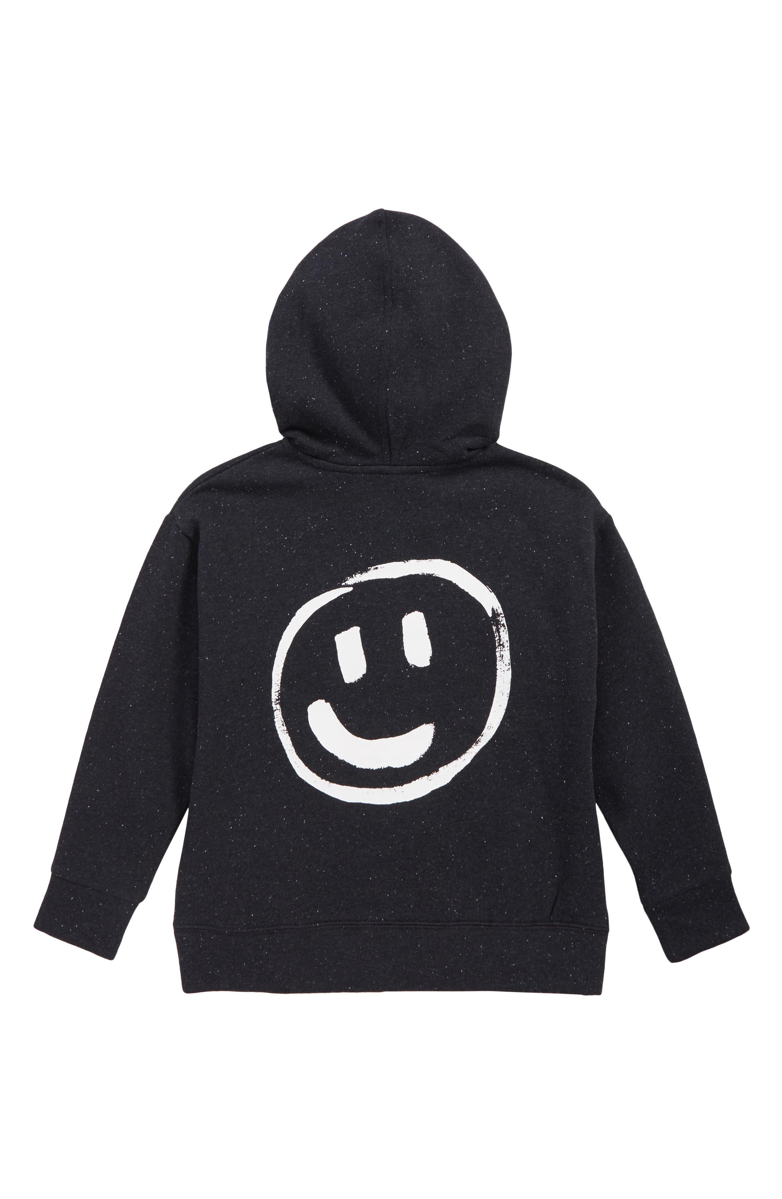 Smile Hoodie Jacket,                             Alternate thumbnail 2, color,                             NAVY DARK PAINTED SMILEY
