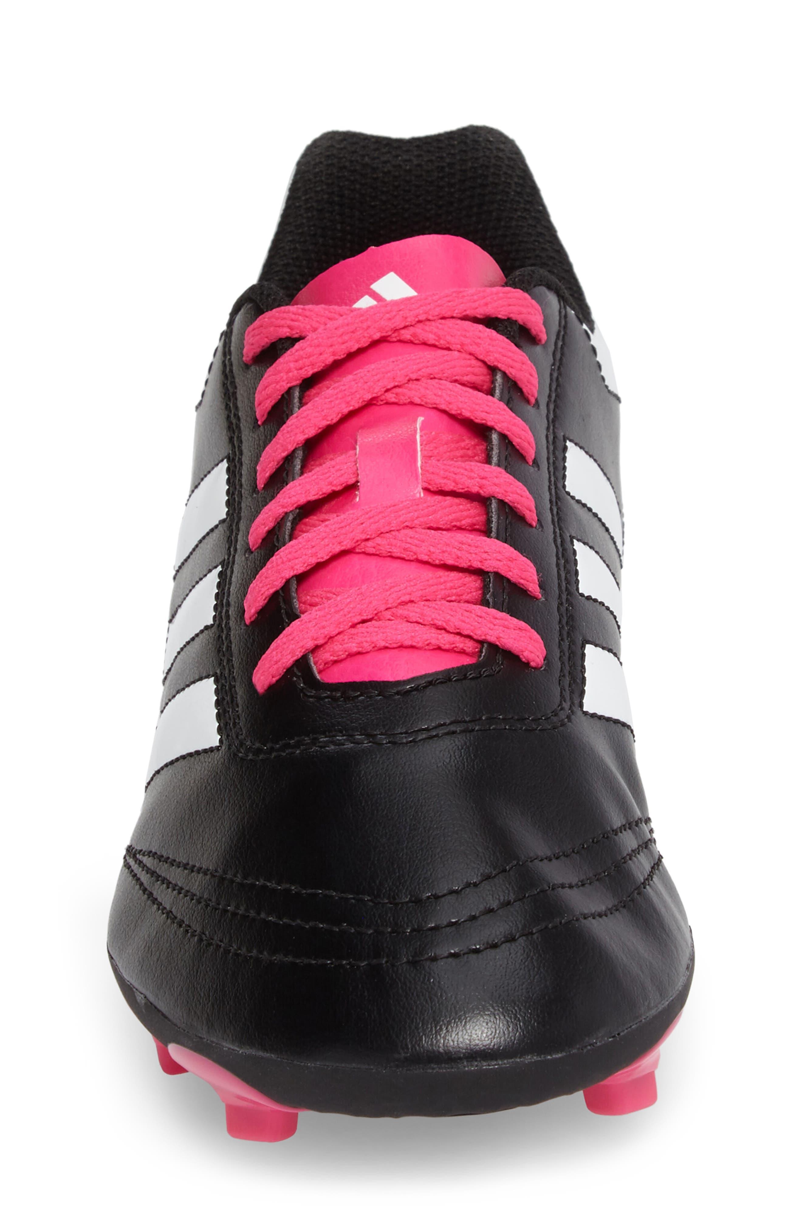 Goletto VI Soccer Shoe,                             Alternate thumbnail 4, color,                             CORE BLACK/ WHITE/ SHOCK PINK