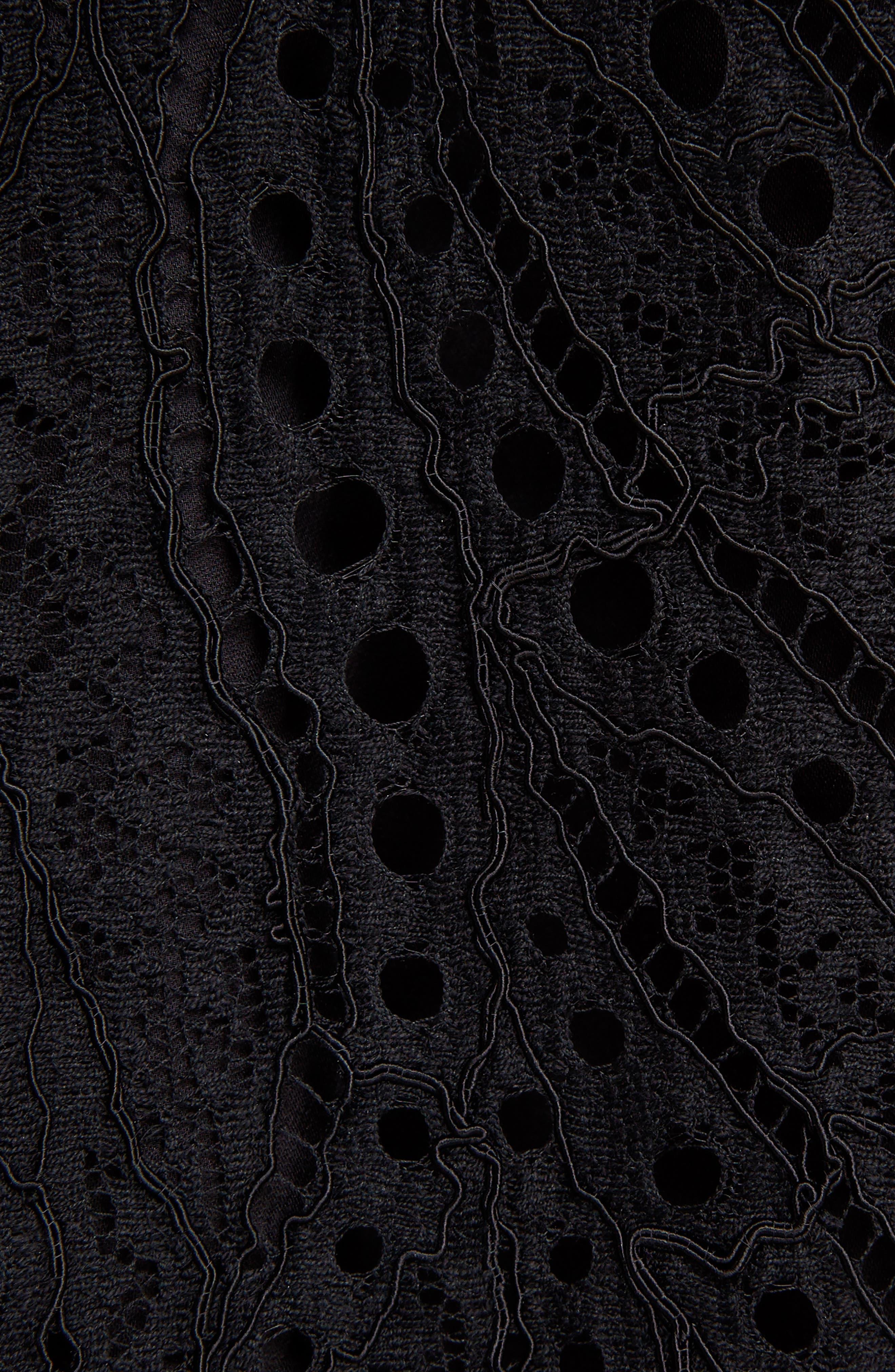 Lace Ruffle Hem Dress,                             Alternate thumbnail 5, color,