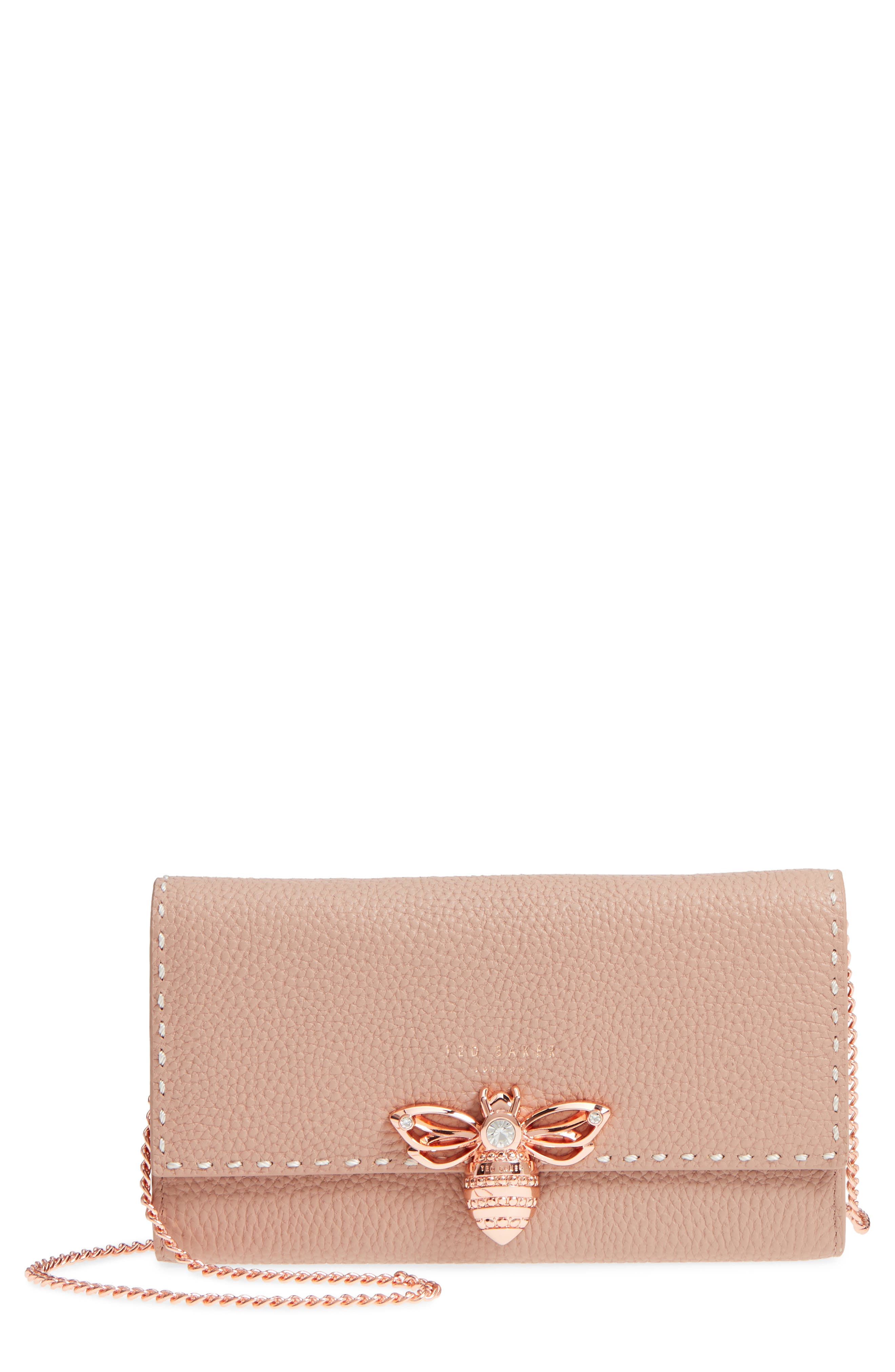 Janese Bee Embellished Matinée Wallet,                             Main thumbnail 3, color,