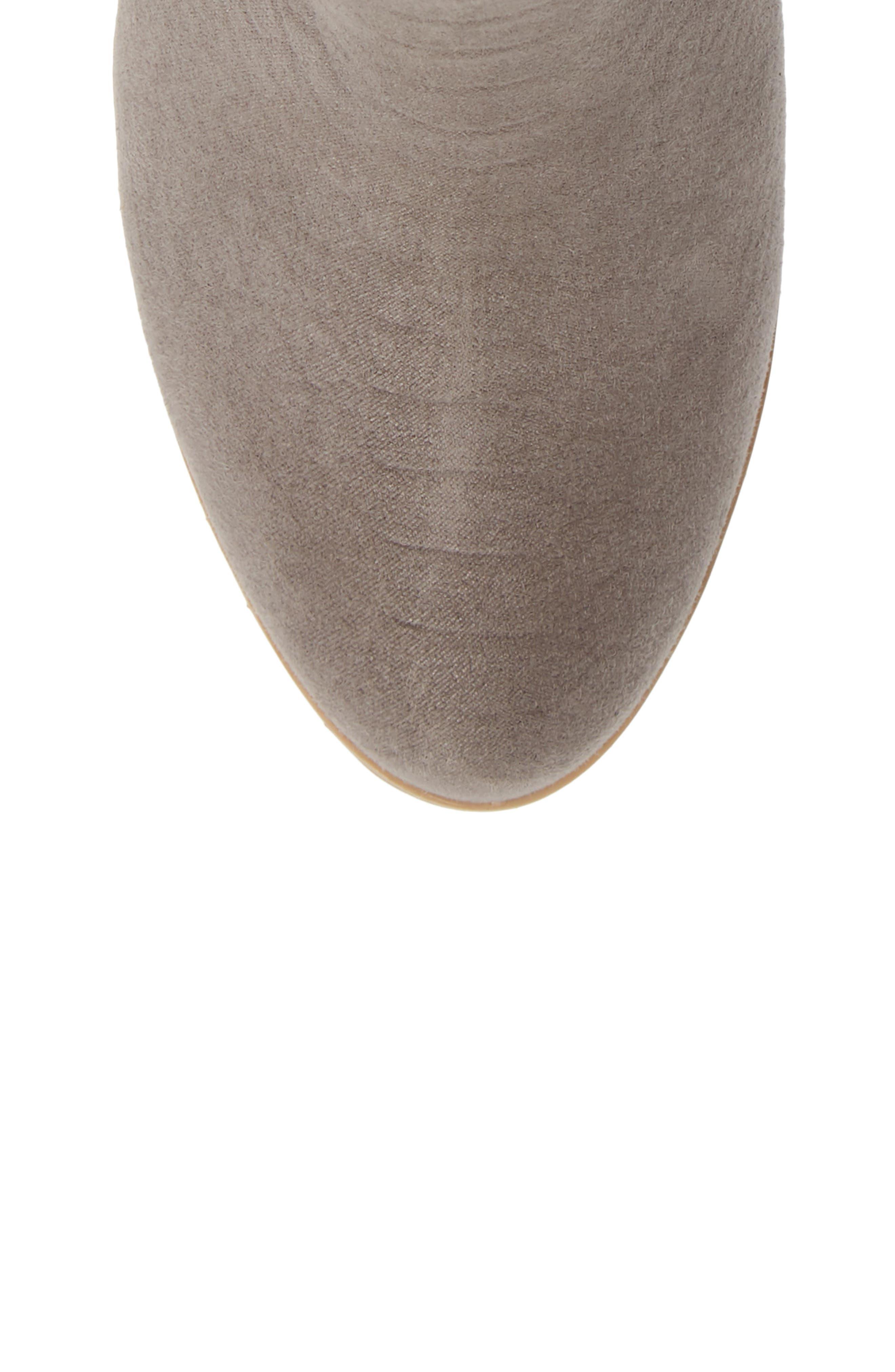 BC FOOTWEAR,                             Kettle Block Heel Bootie,                             Alternate thumbnail 5, color,                             GREY VEGAN SUEDE