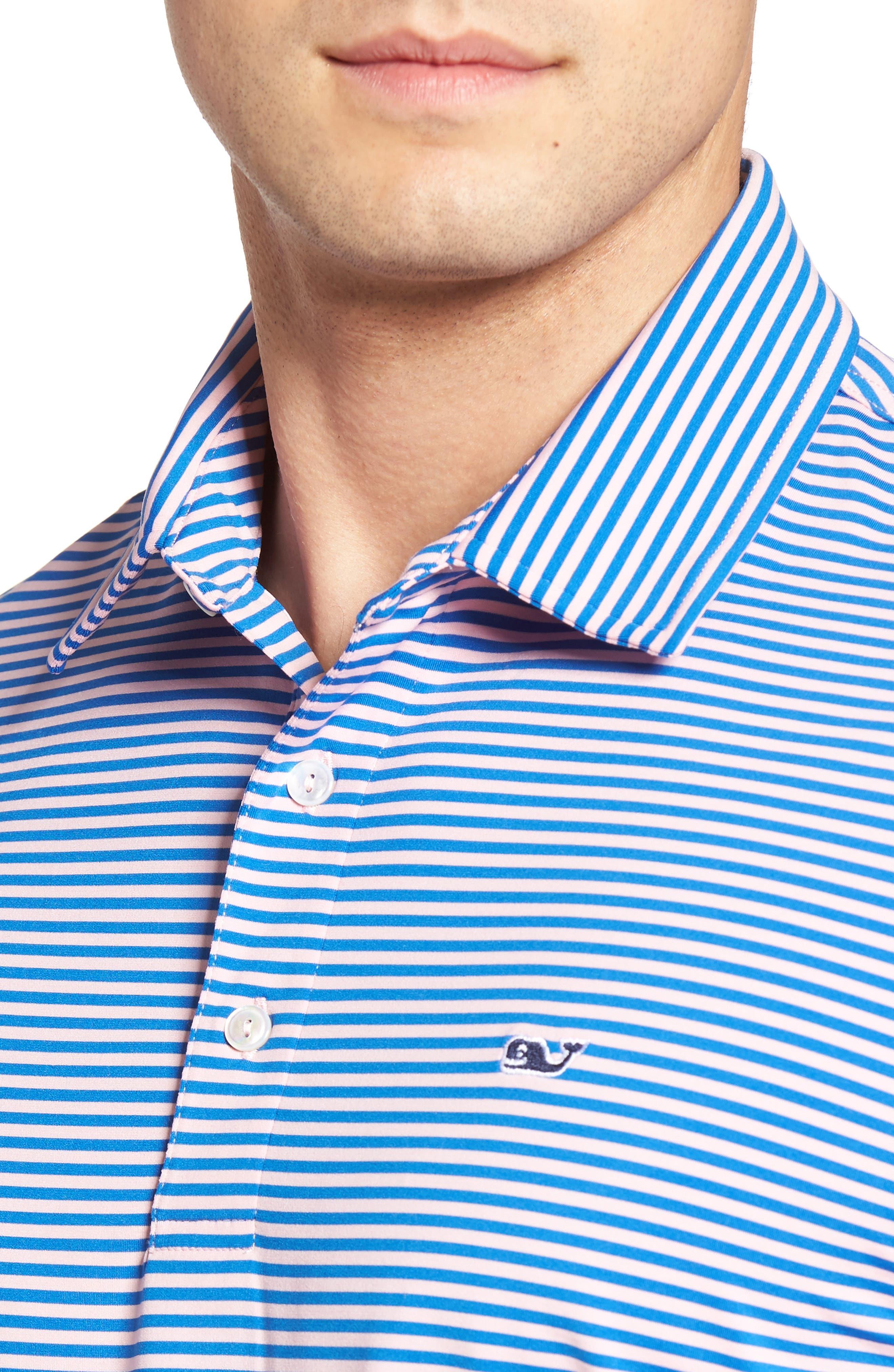 Kennedy Stripe Golf Polo,                             Alternate thumbnail 73, color,