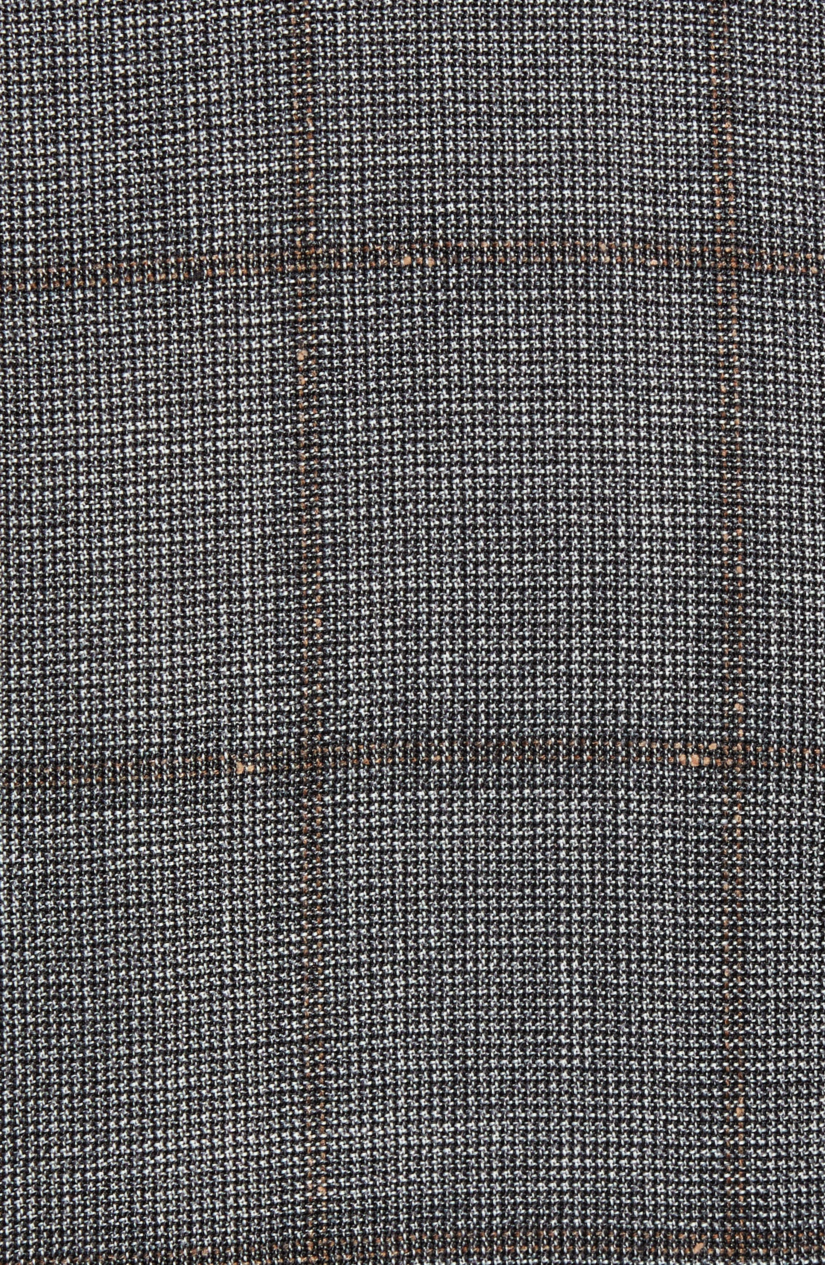 Novan/Ben Trim Fit Windowpane Wool Suit,                             Alternate thumbnail 6, color,                             OPEN GREY