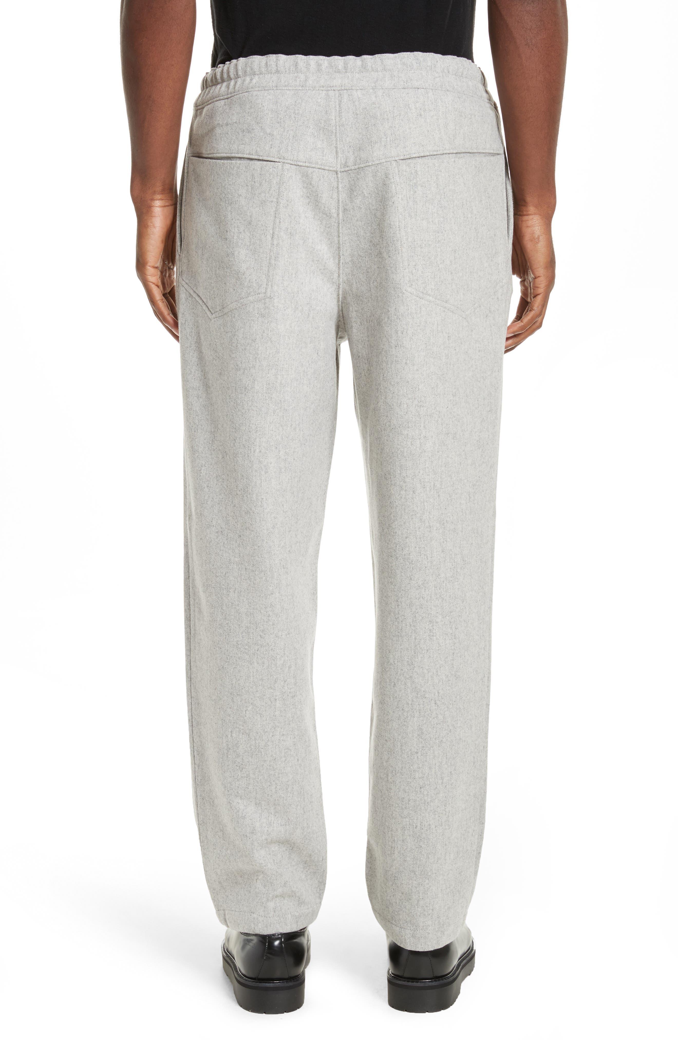 Mélange Wool Blend Trousers,                             Alternate thumbnail 3, color,                             020