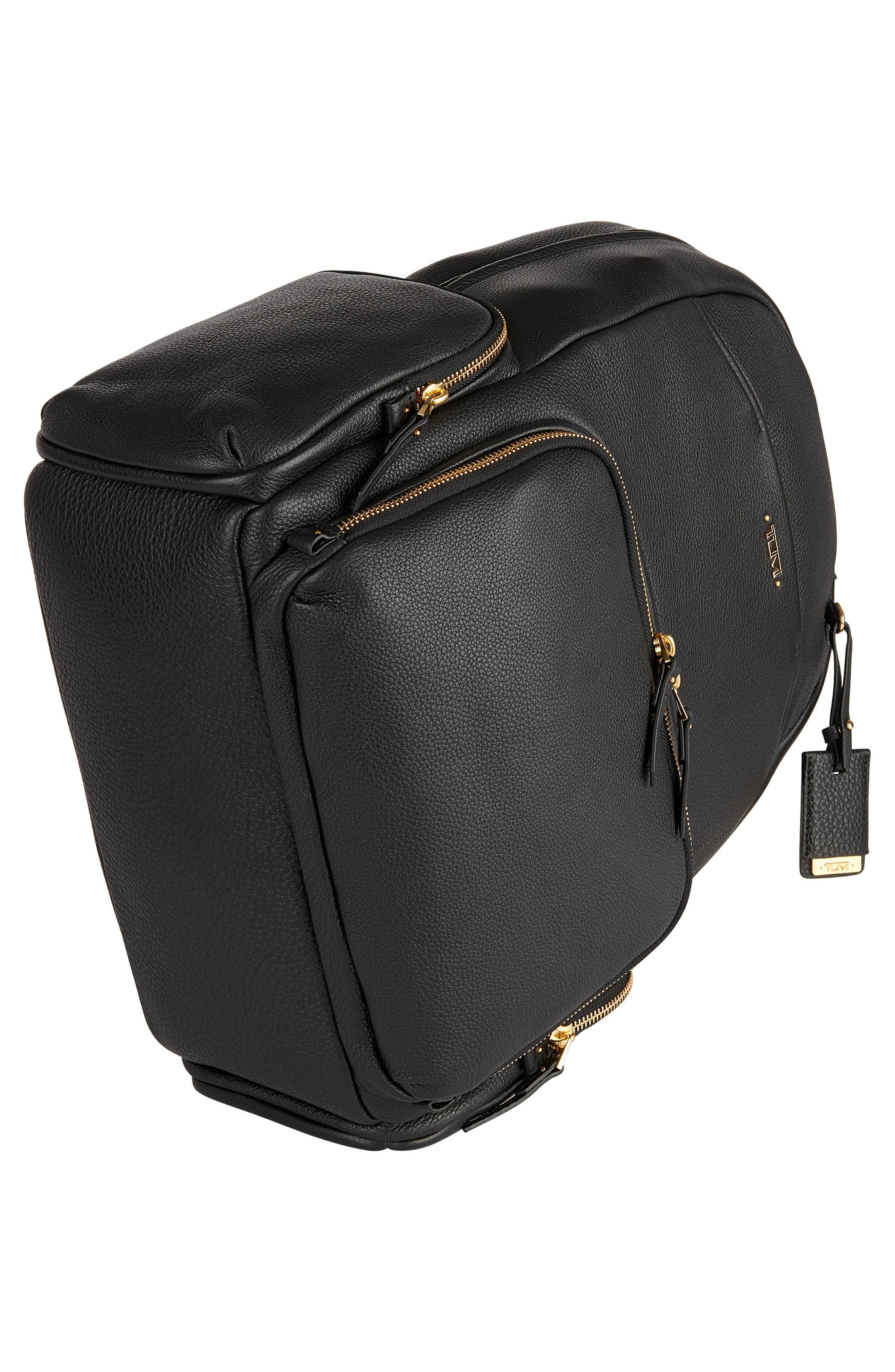 Calais Leather Computer Backpack,                             Alternate thumbnail 2, color,                             001