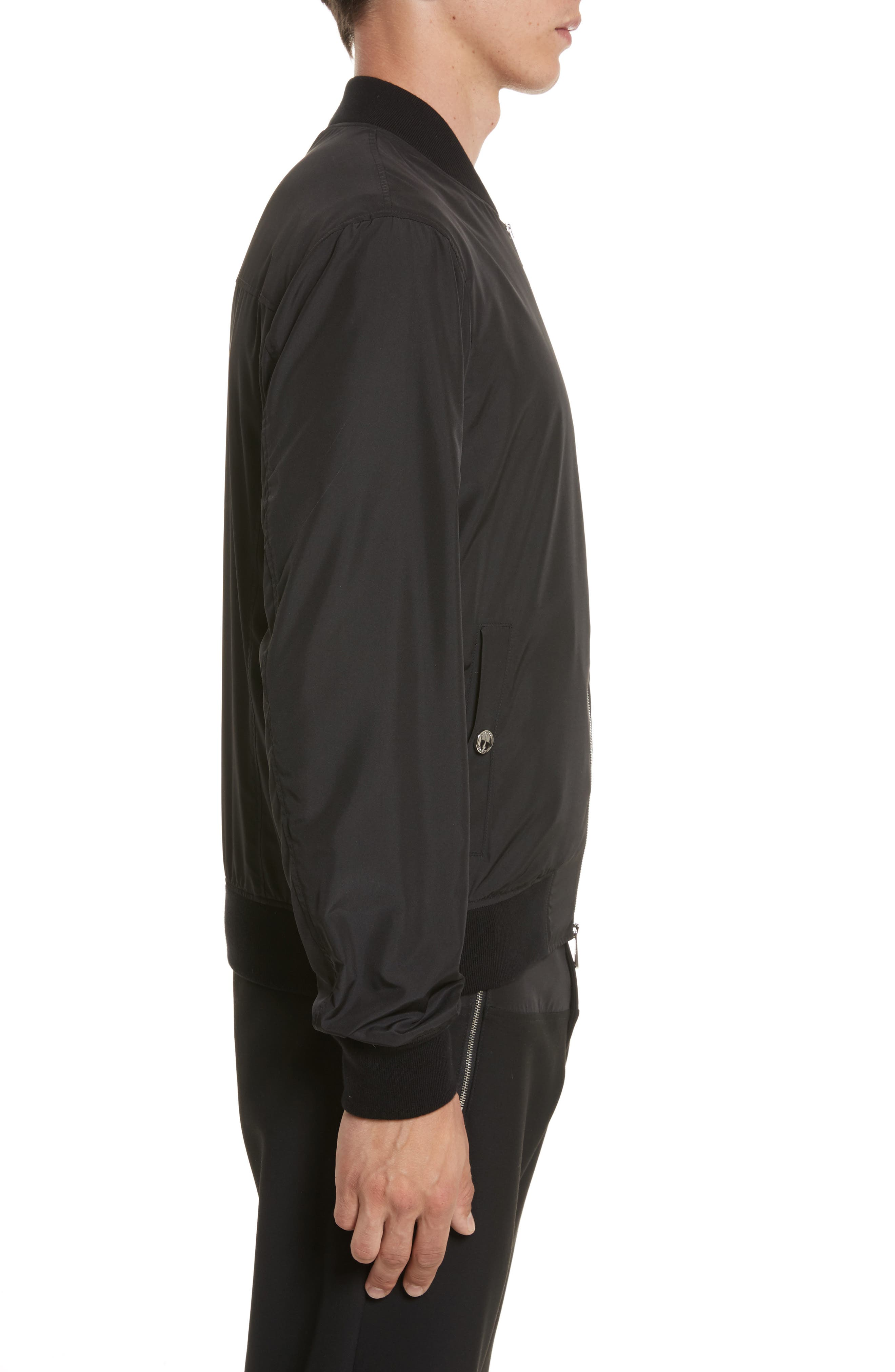 Bomber Jacket with Patch,                             Alternate thumbnail 3, color,                             130