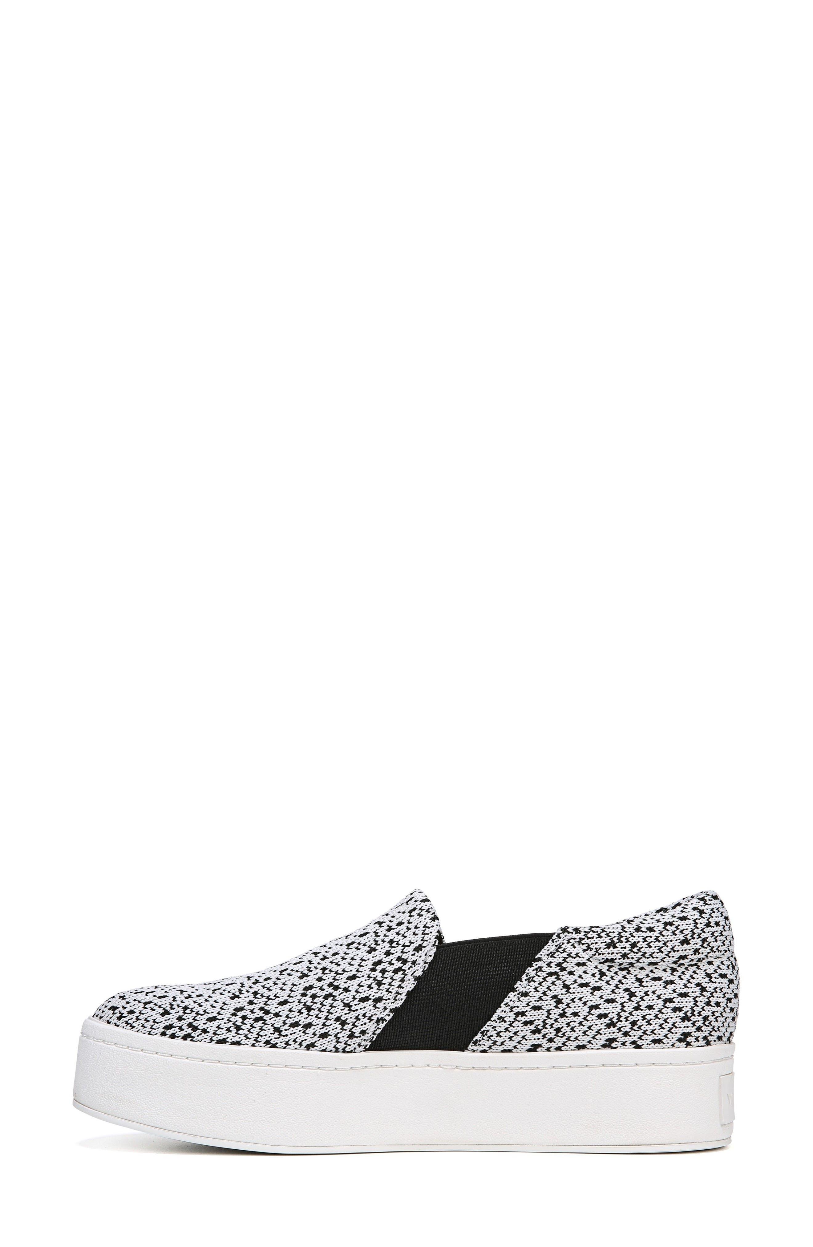 Warren Slip-On Sneaker,                             Alternate thumbnail 8, color,                             WHITE/ BLACK