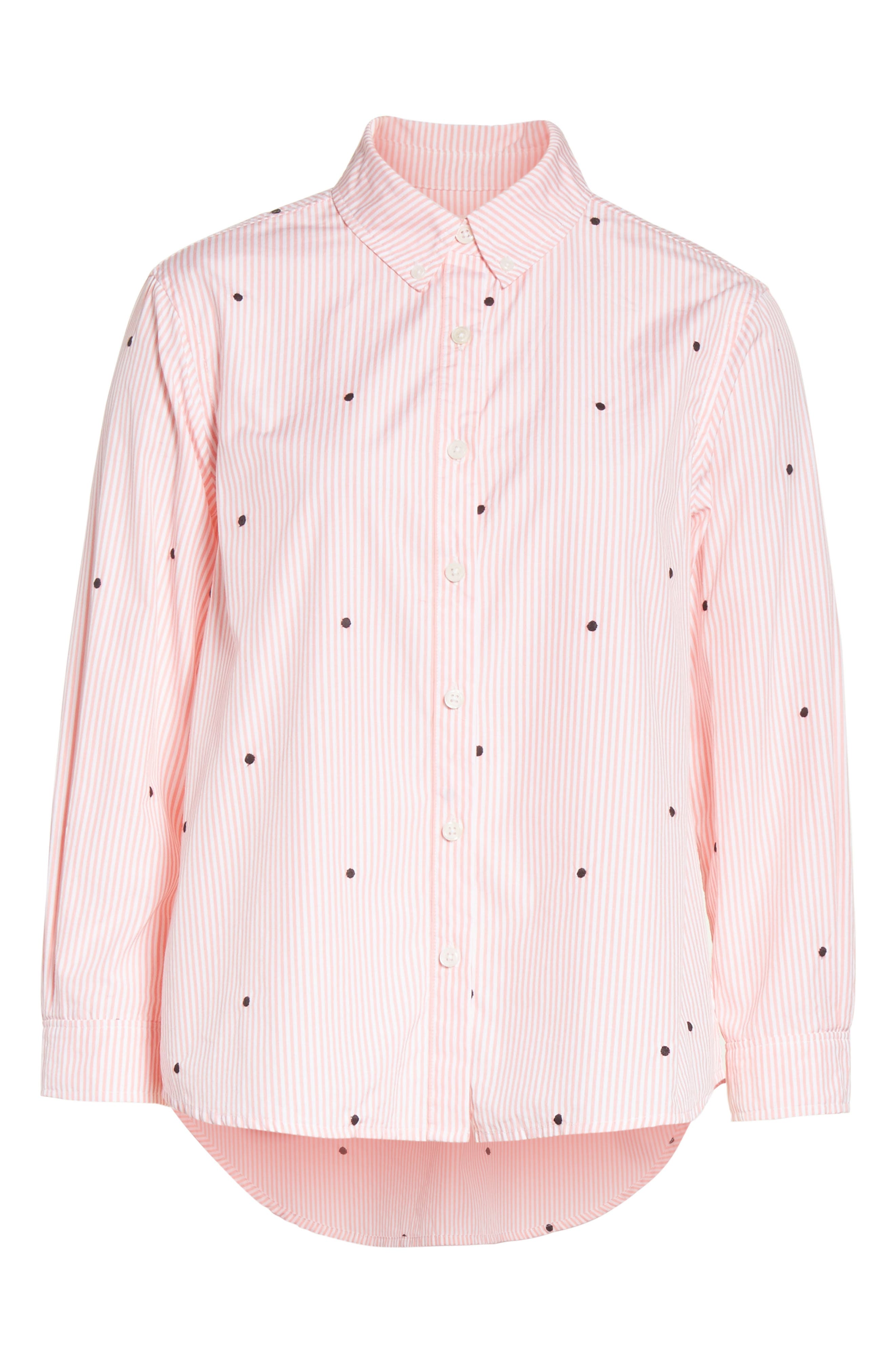 The Swing Oxford Embroidered Shirt,                             Alternate thumbnail 6, color,                             650