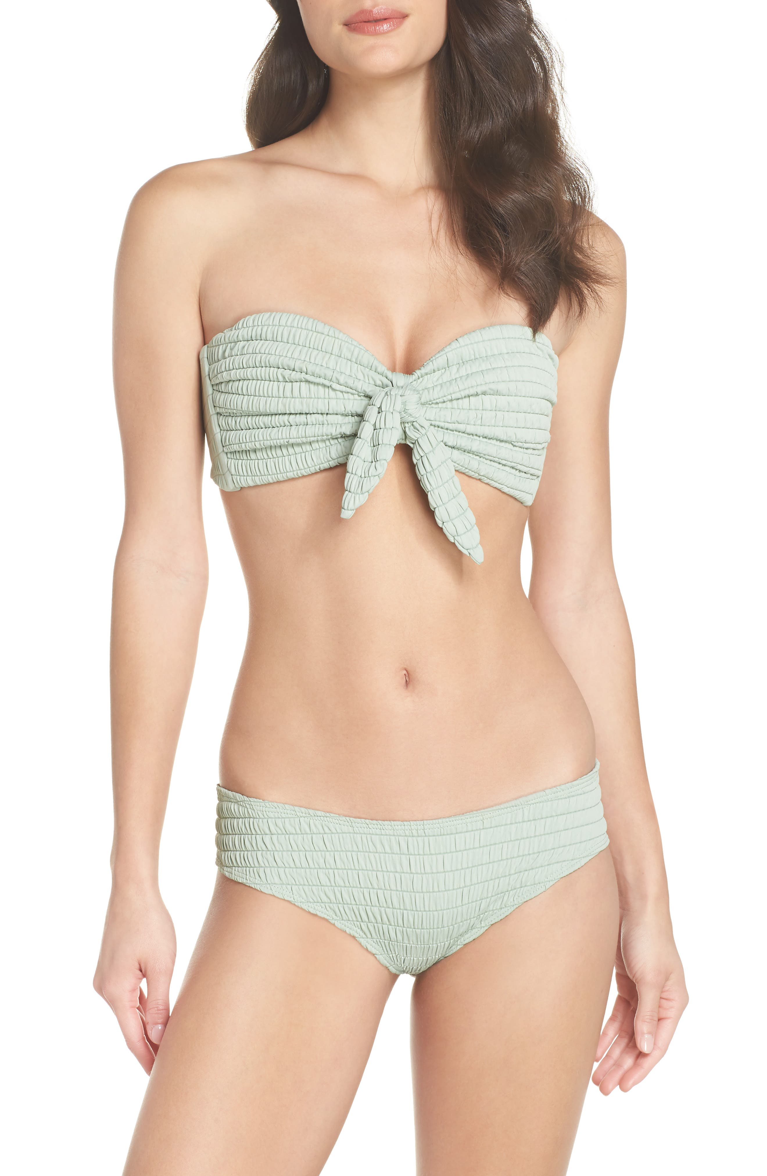 Cabana Tie U-Up Bikini Top,                             Alternate thumbnail 7, color,                             PISTACHE SCRUNCH GREEN