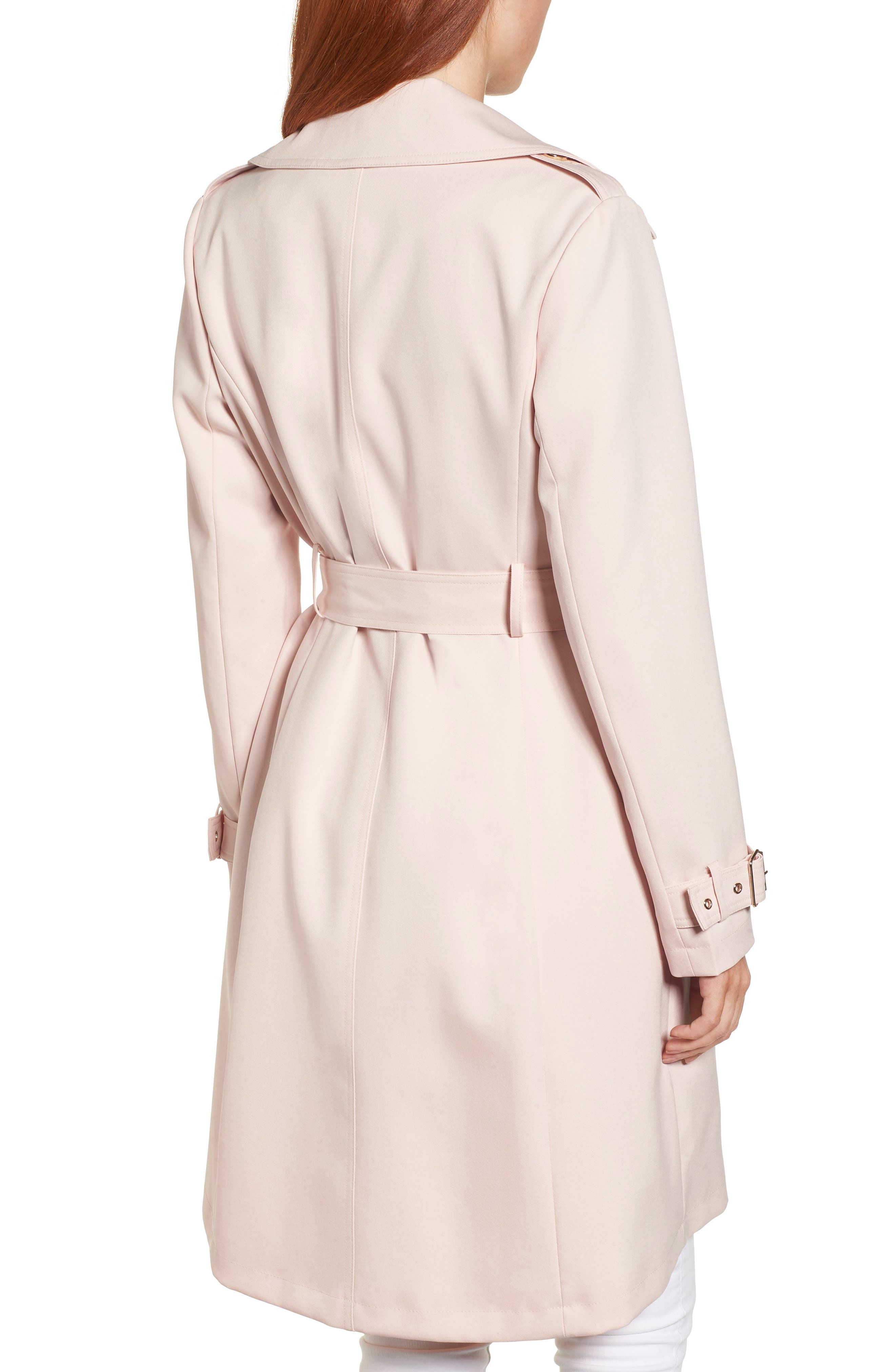 Flowy Belted Trench Coat,                             Alternate thumbnail 7, color,