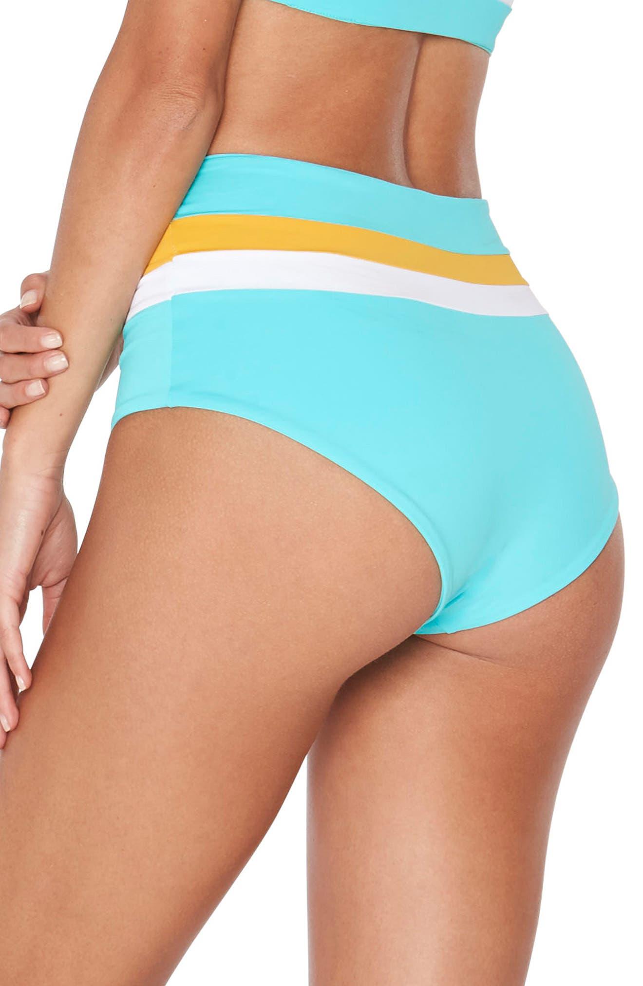 Portia Reversible Colorblock Bikini Bottoms,                             Alternate thumbnail 9, color,