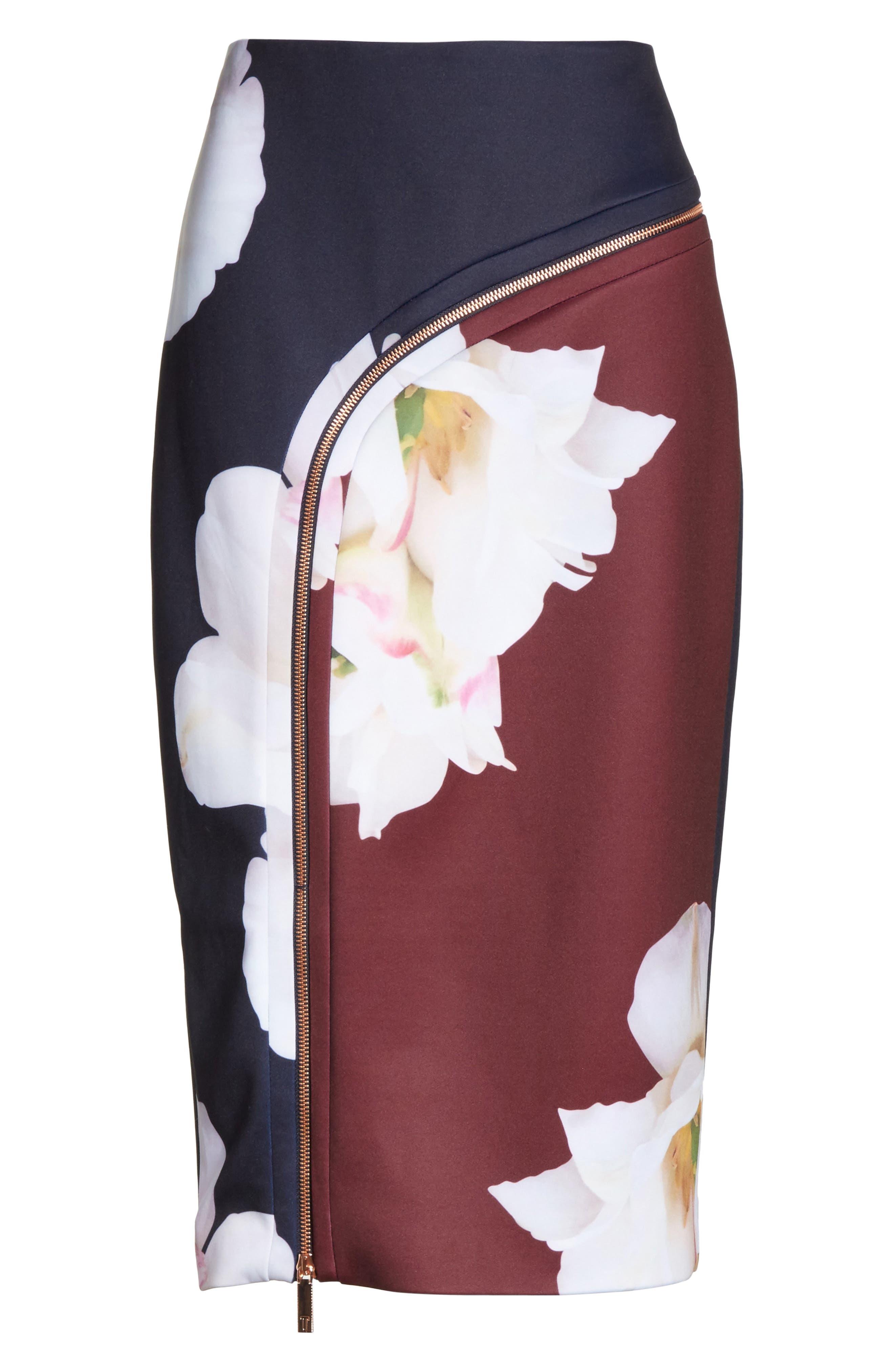 Gardenia Pencil Skirt,                             Alternate thumbnail 6, color,                             402