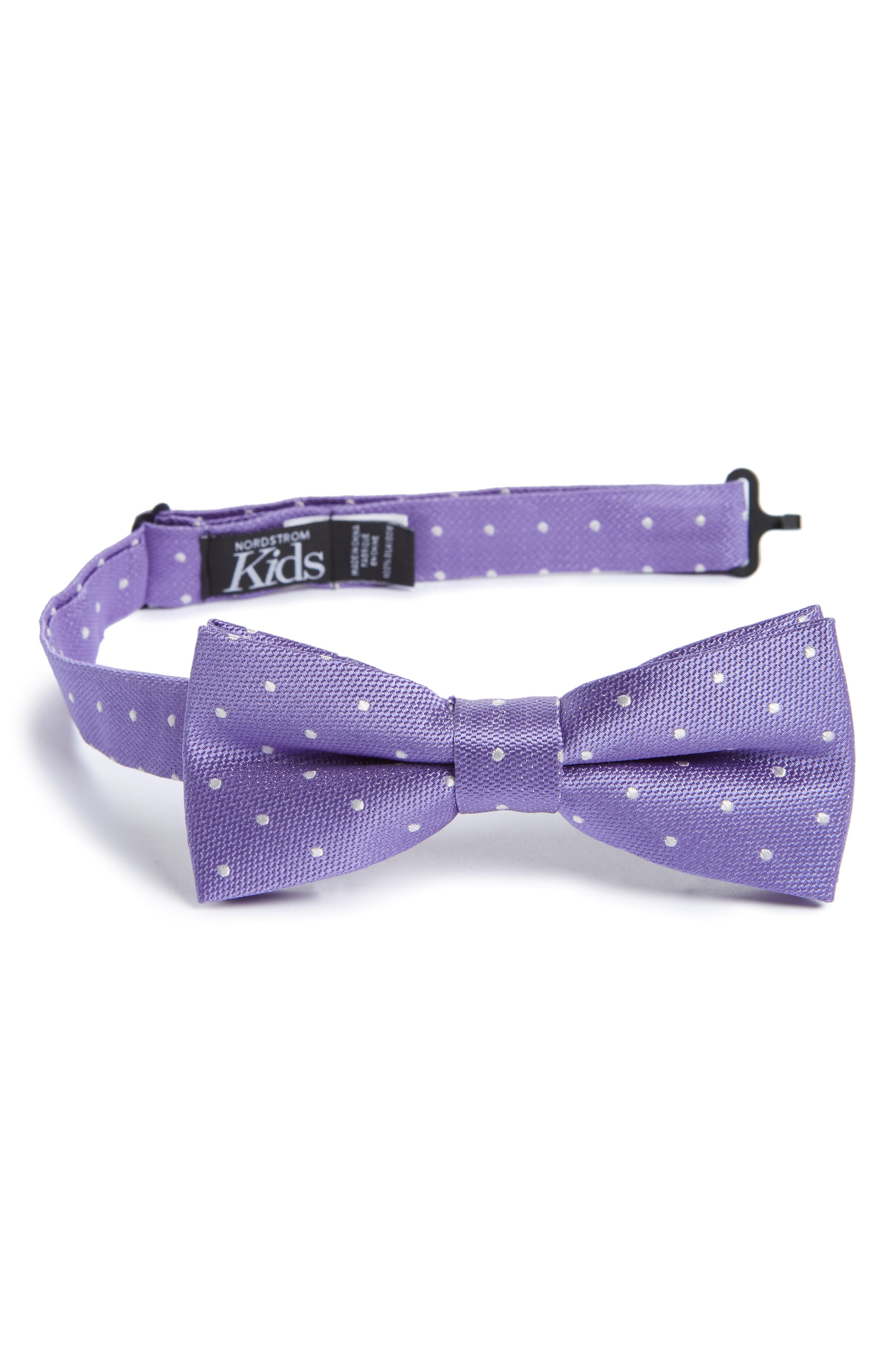 Dainty Dot Silk Bow Tie,                             Main thumbnail 1, color,                             500