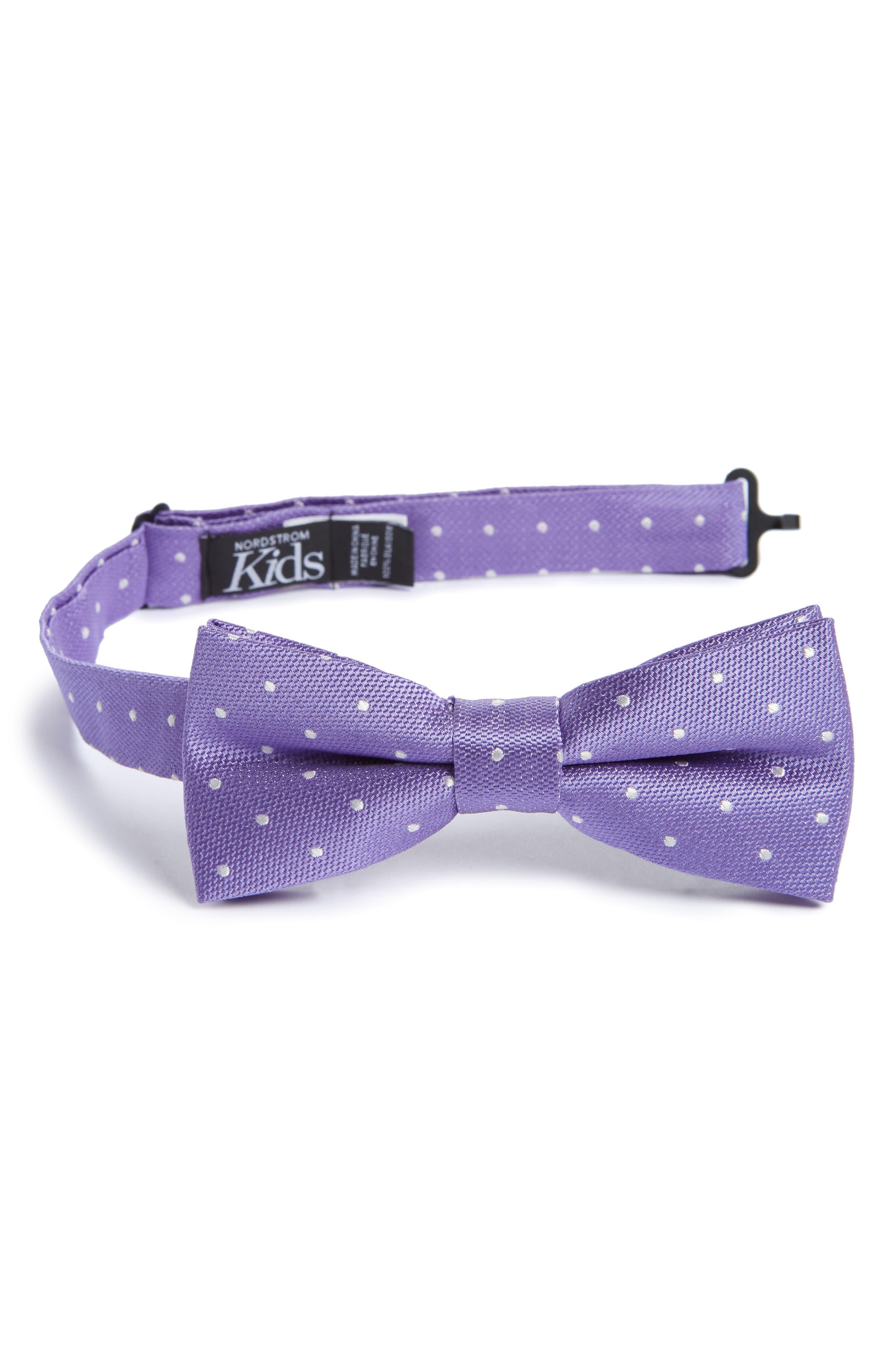 Dainty Dot Silk Bow Tie,                         Main,                         color, 500
