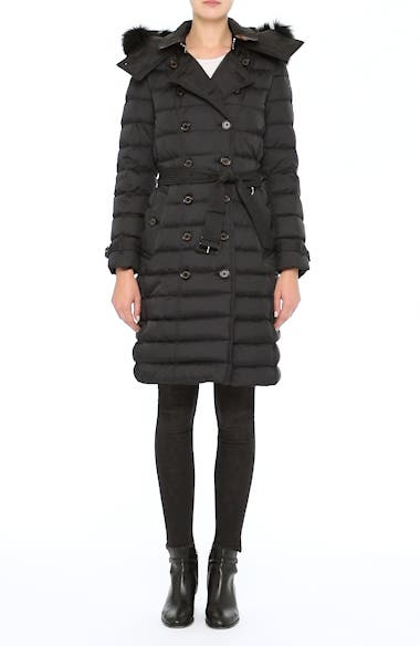 Alternate Video 7  - Burberry Hooded Down Puffer Coat with Genuine Fox Fur Trim