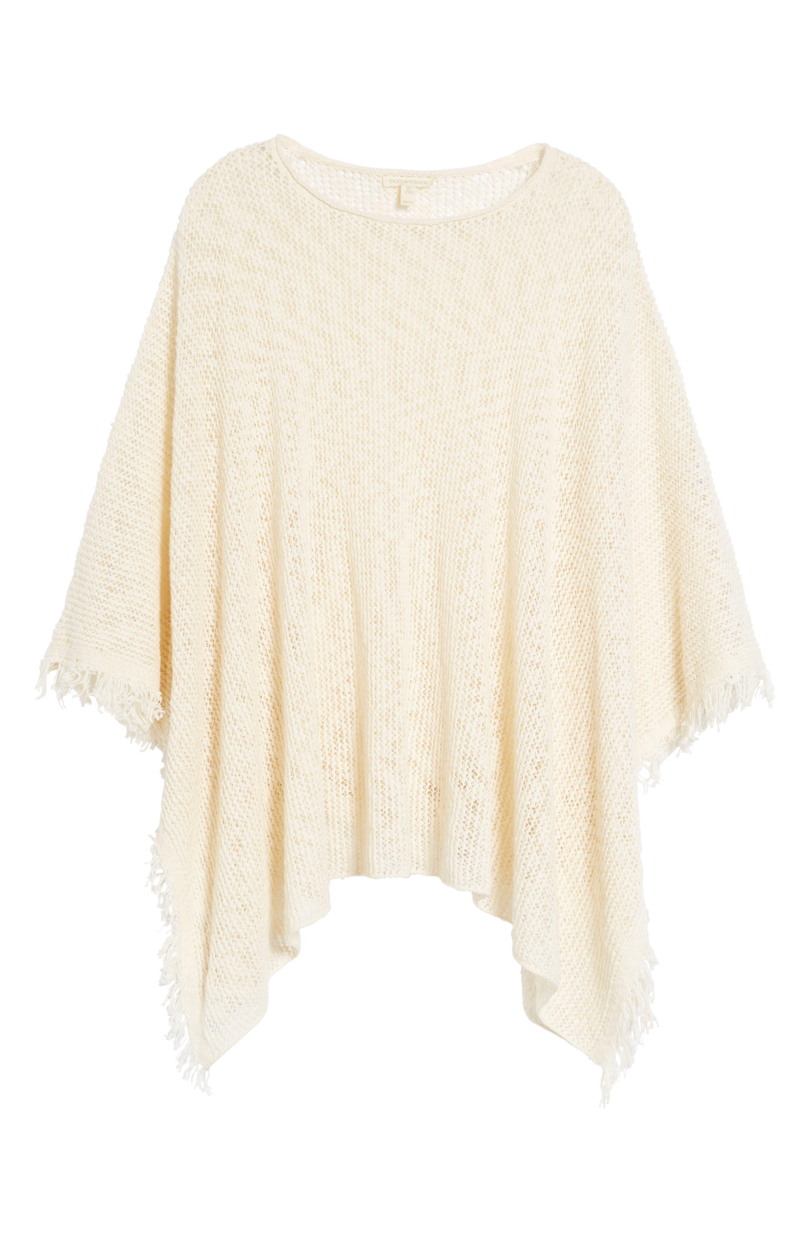 Organic Cotton Poncho,                             Alternate thumbnail 6, color,                             103
