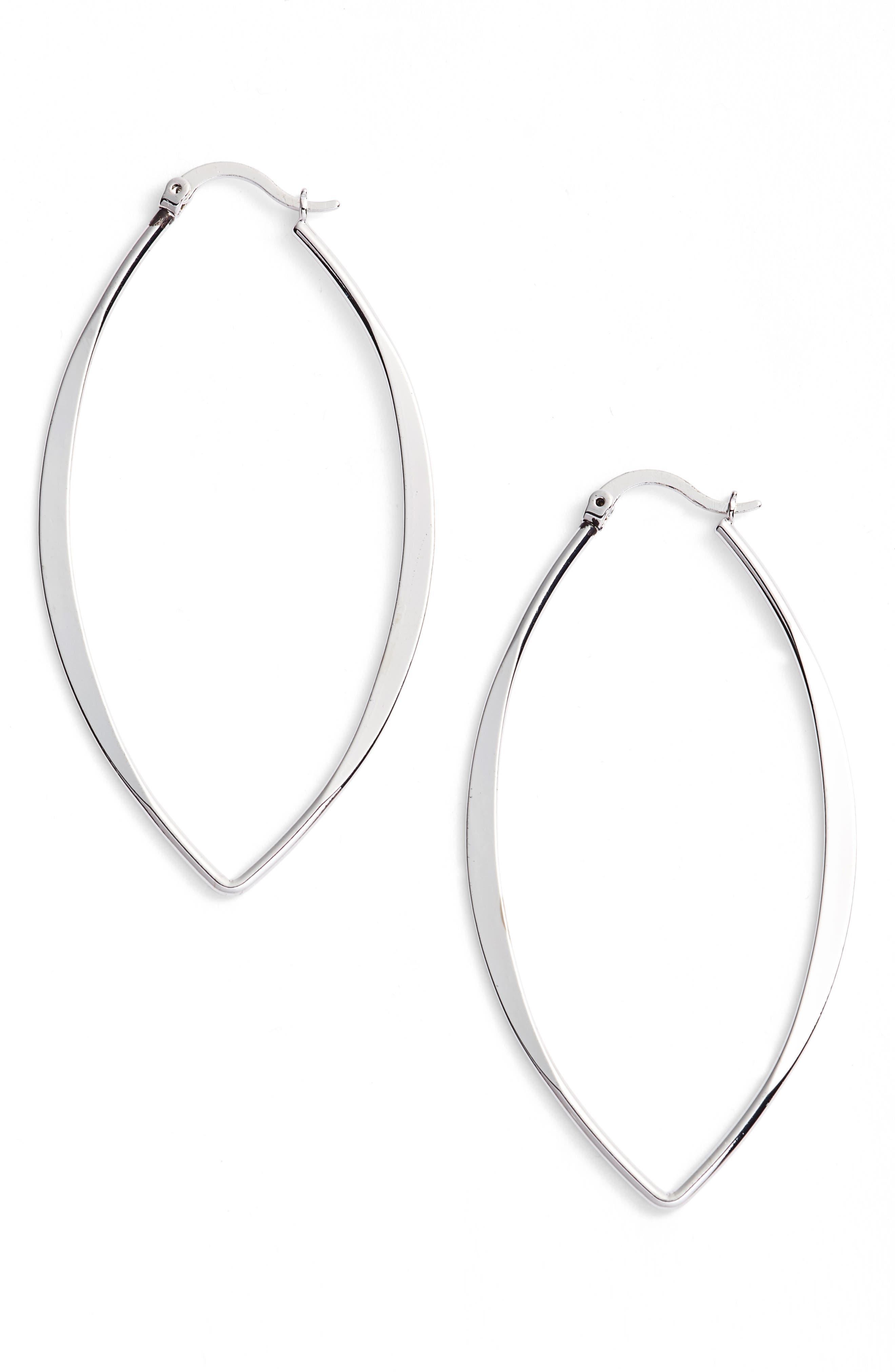 Gamma Hoop Earrings,                         Main,                         color, 040