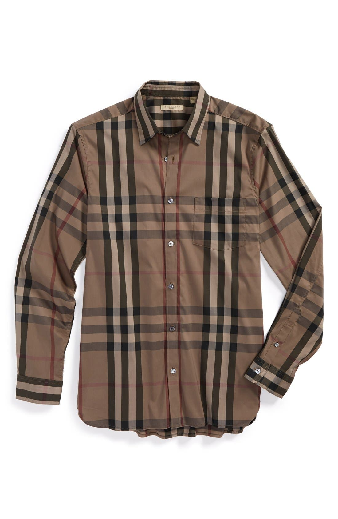 Nelson Check Sport Shirt,                             Main thumbnail 4, color,