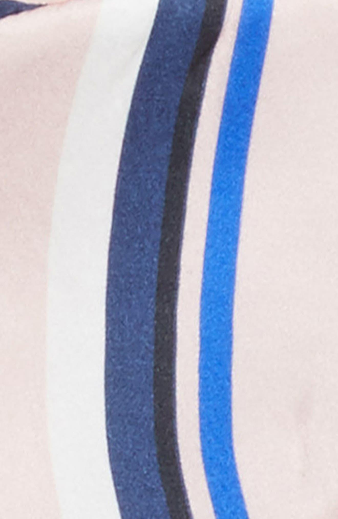 Filipa Stripe Silk Sleep Mask,                             Alternate thumbnail 2, color,                             650
