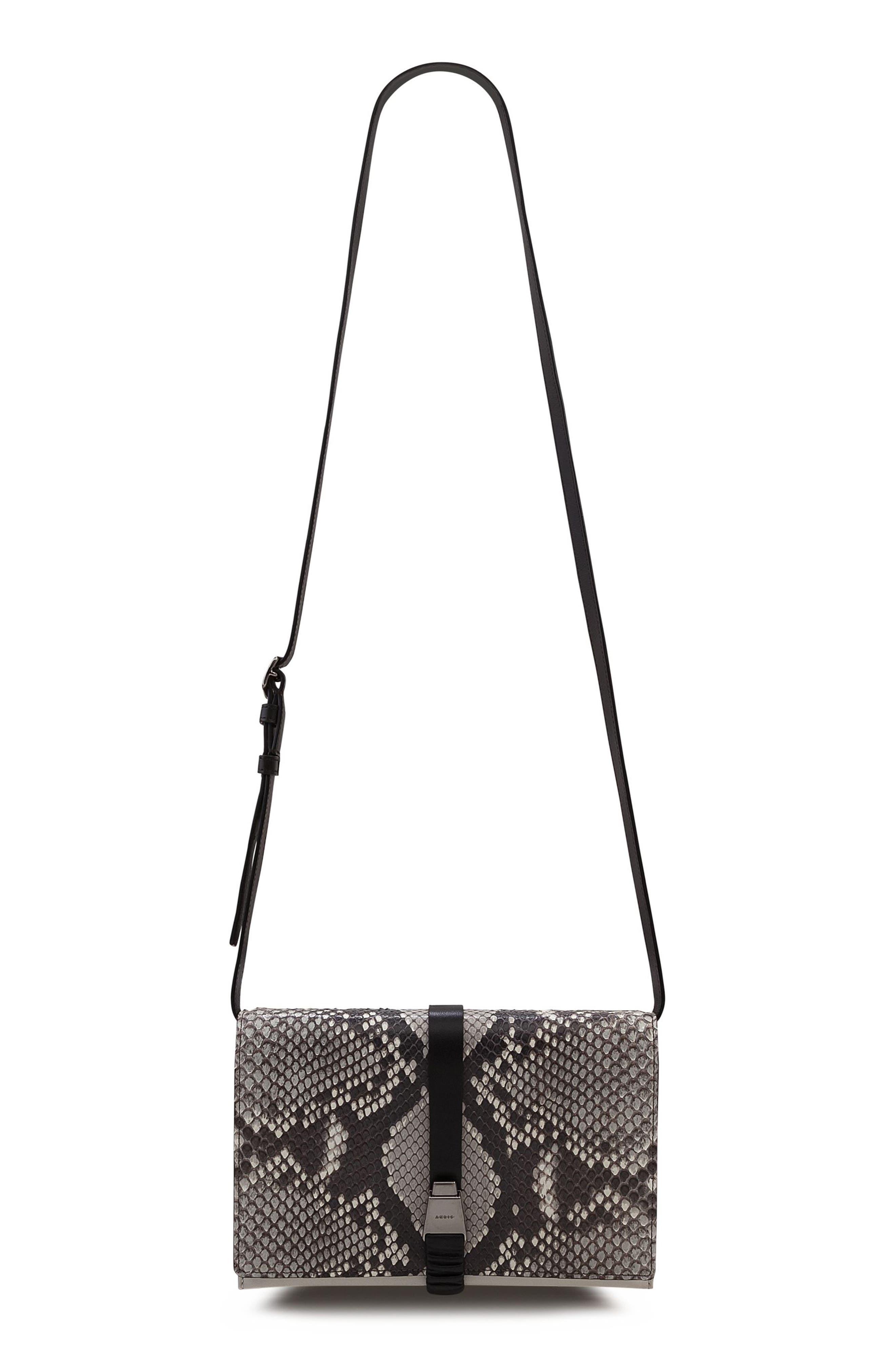 Alice Genuine Python Crossbody Bag,                             Alternate thumbnail 3, color,