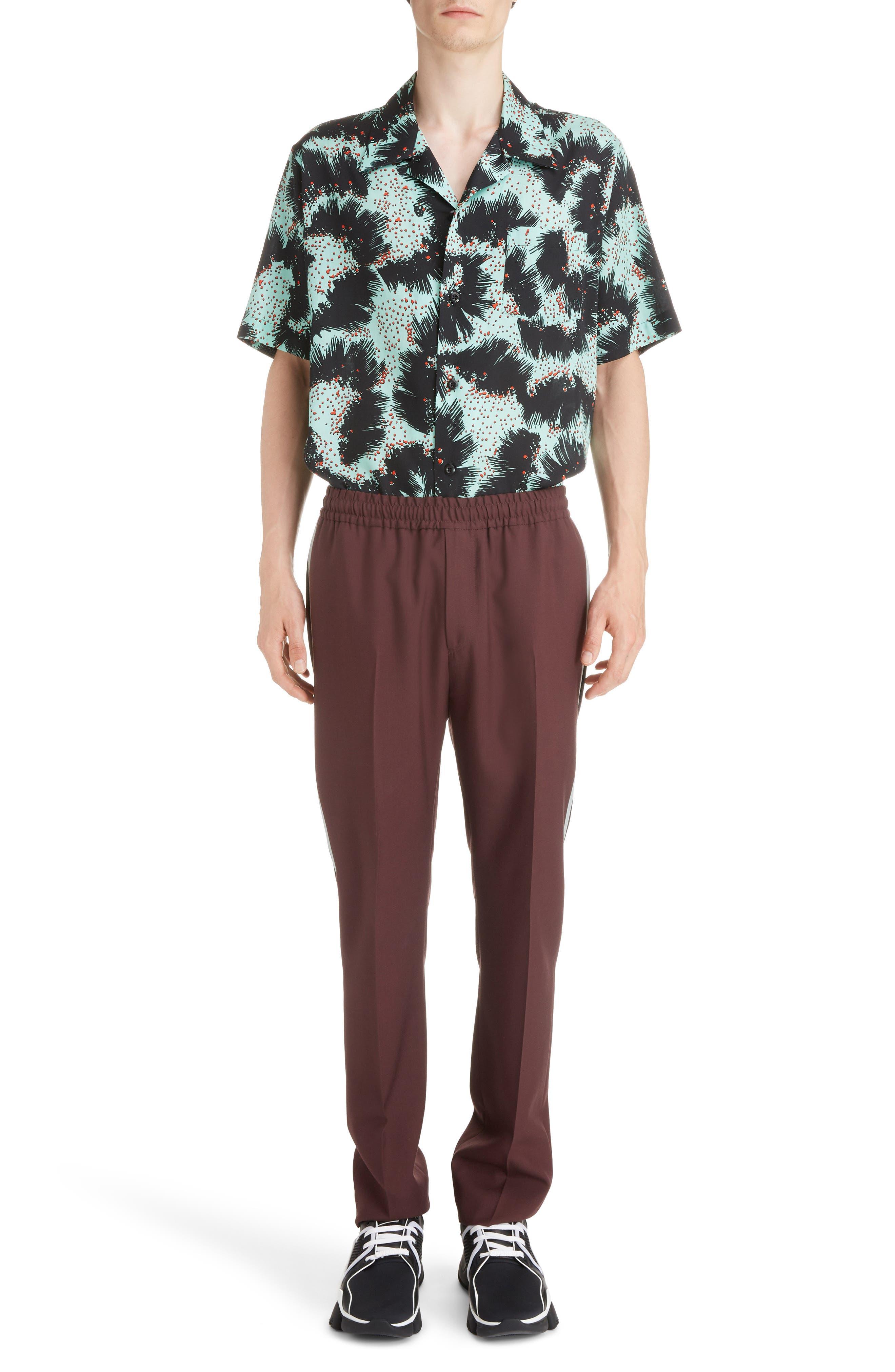 Rock Urchin Camp Shirt,                             Alternate thumbnail 6, color,                             GREEN/BLACK