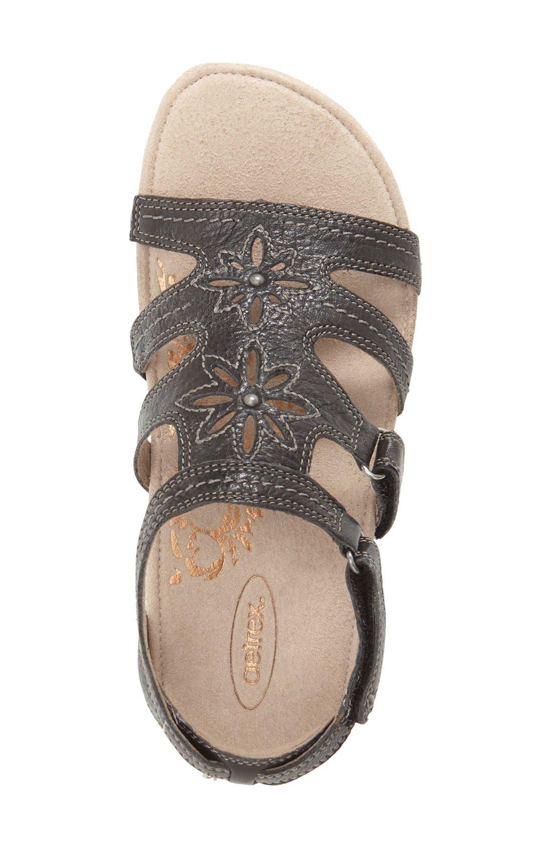 'Natasha' Gladiator Sandal,                             Alternate thumbnail 3, color,                             001