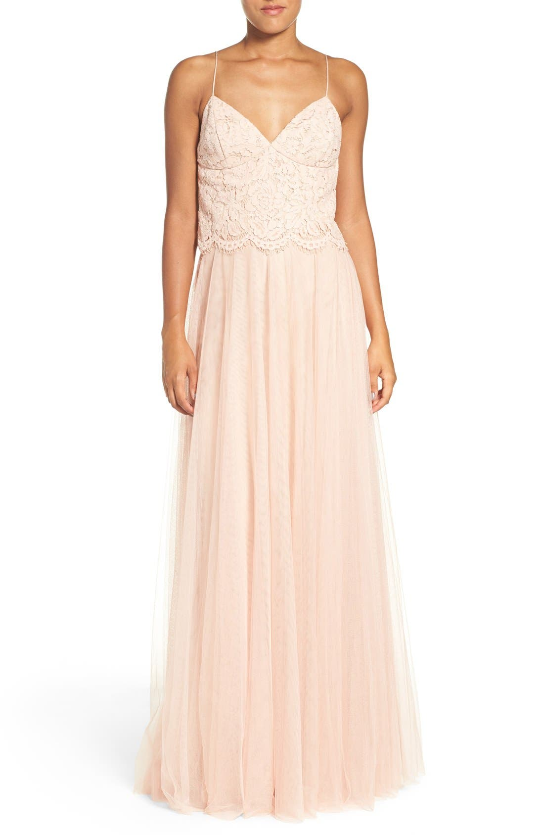 Winslow Long Tulle A-Line Skirt,                             Alternate thumbnail 12, color,                             CAMEO PINK