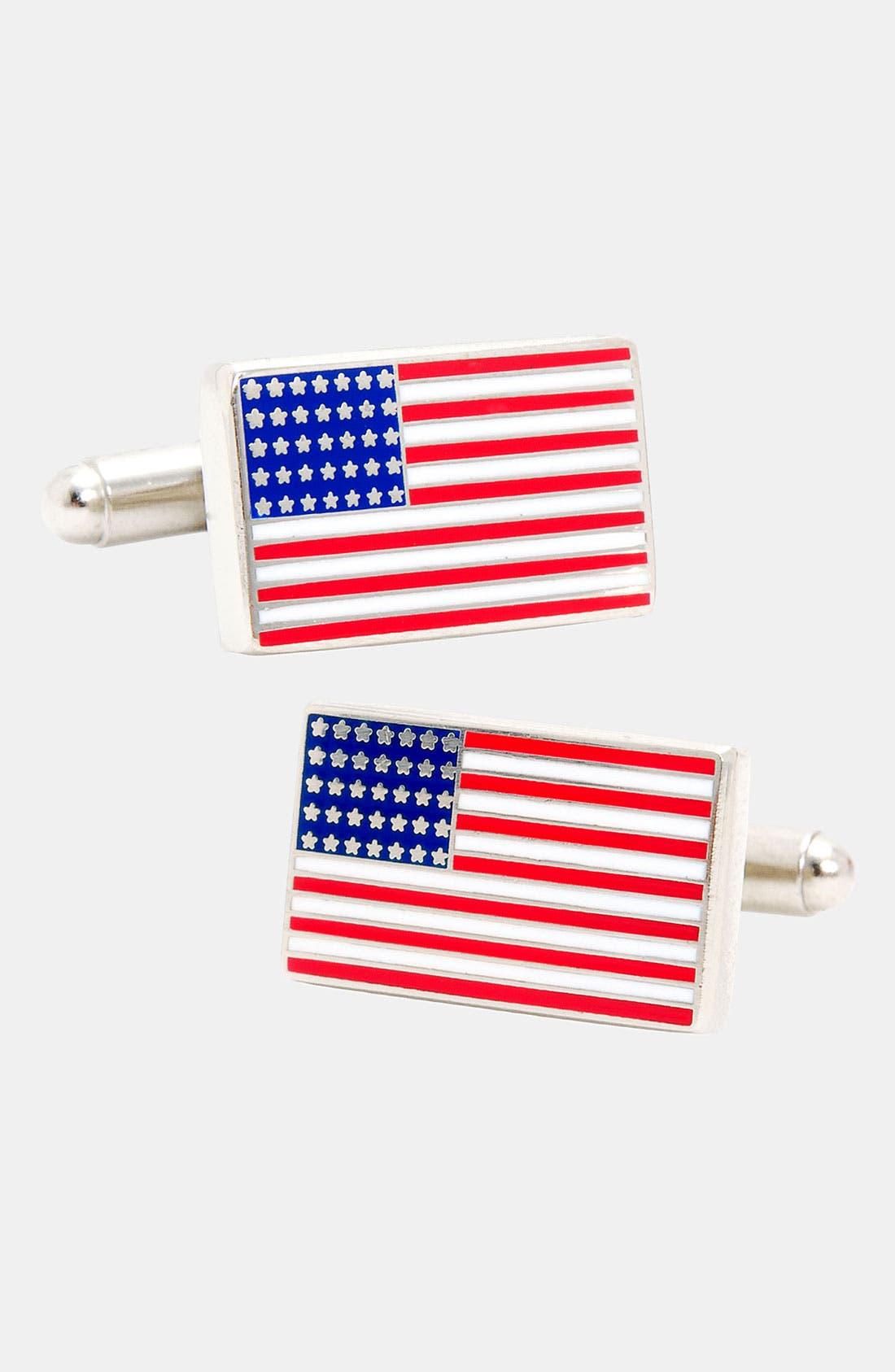 'American Flag' Cuff Links,                             Main thumbnail 1, color,                             040