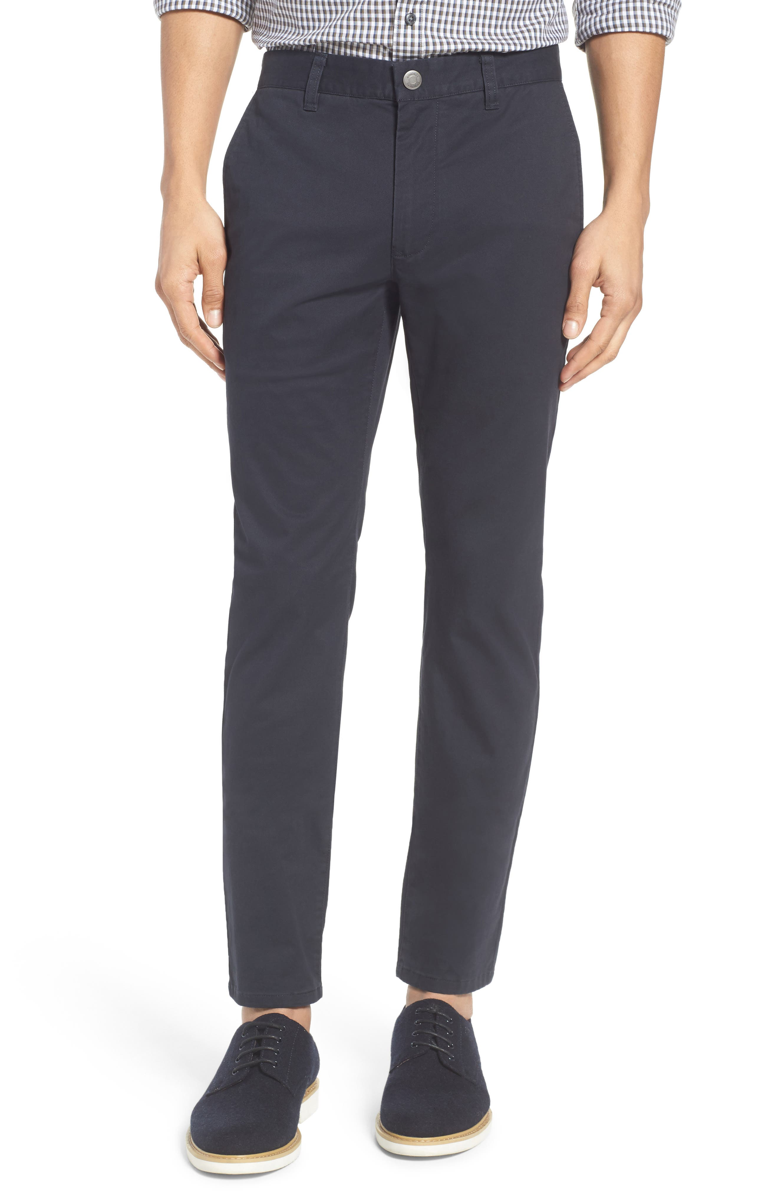 Tailored Fit Washed Stretch Cotton Chinos,                             Alternate thumbnail 137, color,