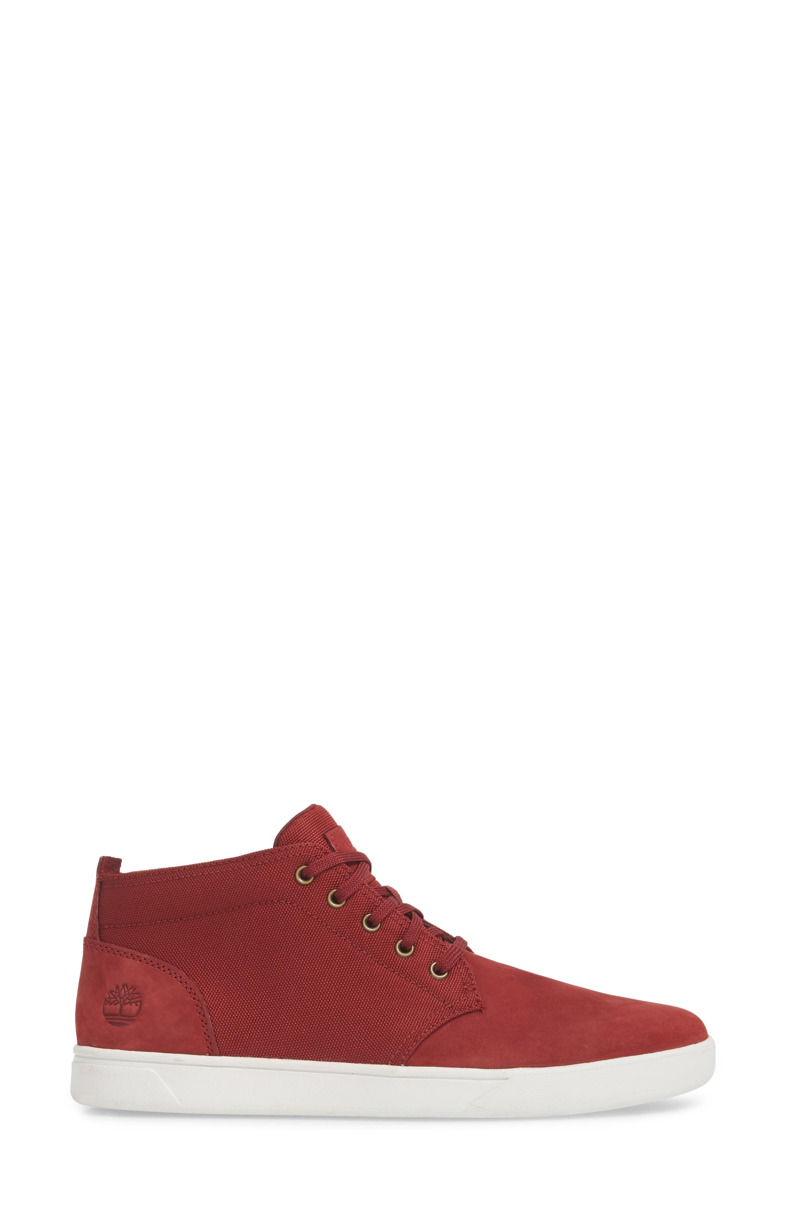 Earthkeepers<sup>™</sup> 'Groveton' Chukka Sneaker,                             Alternate thumbnail 3, color,                             POMEGRANATE NUBUCK