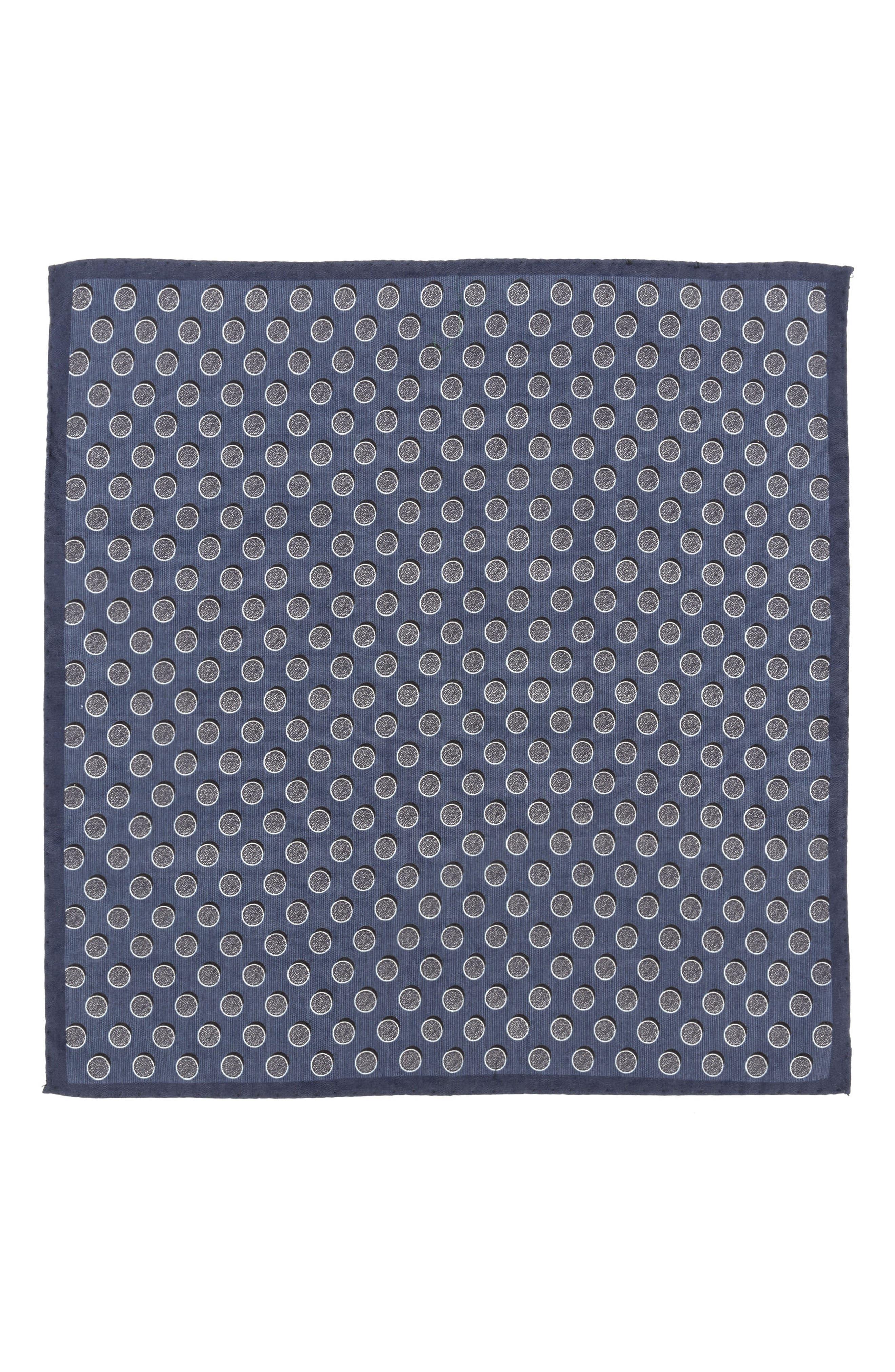 Dot Silk Pocket Square,                             Alternate thumbnail 2, color,                             411