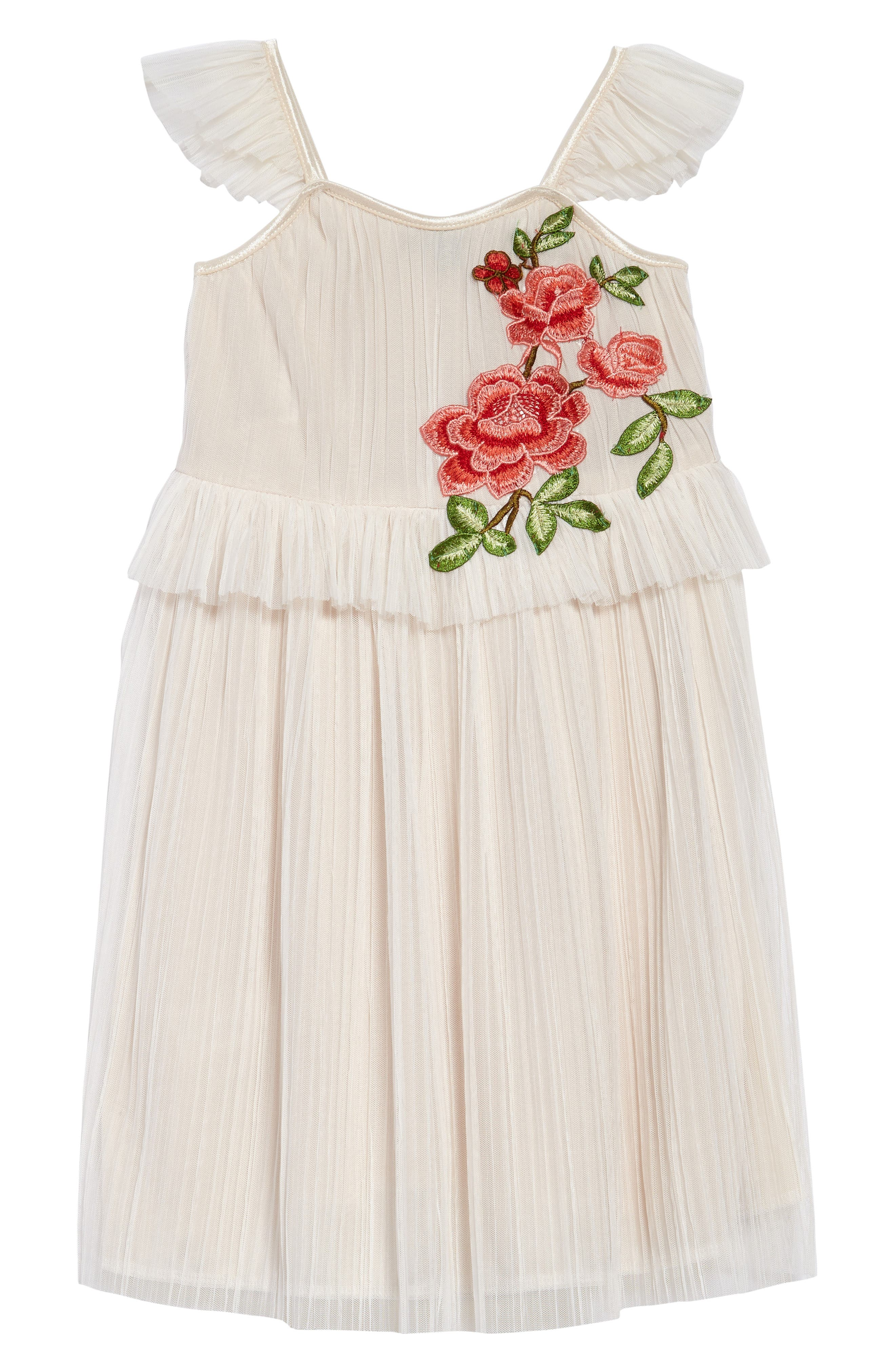 AVA & YELLY Accordion Pleated Dress, Main, color, 250