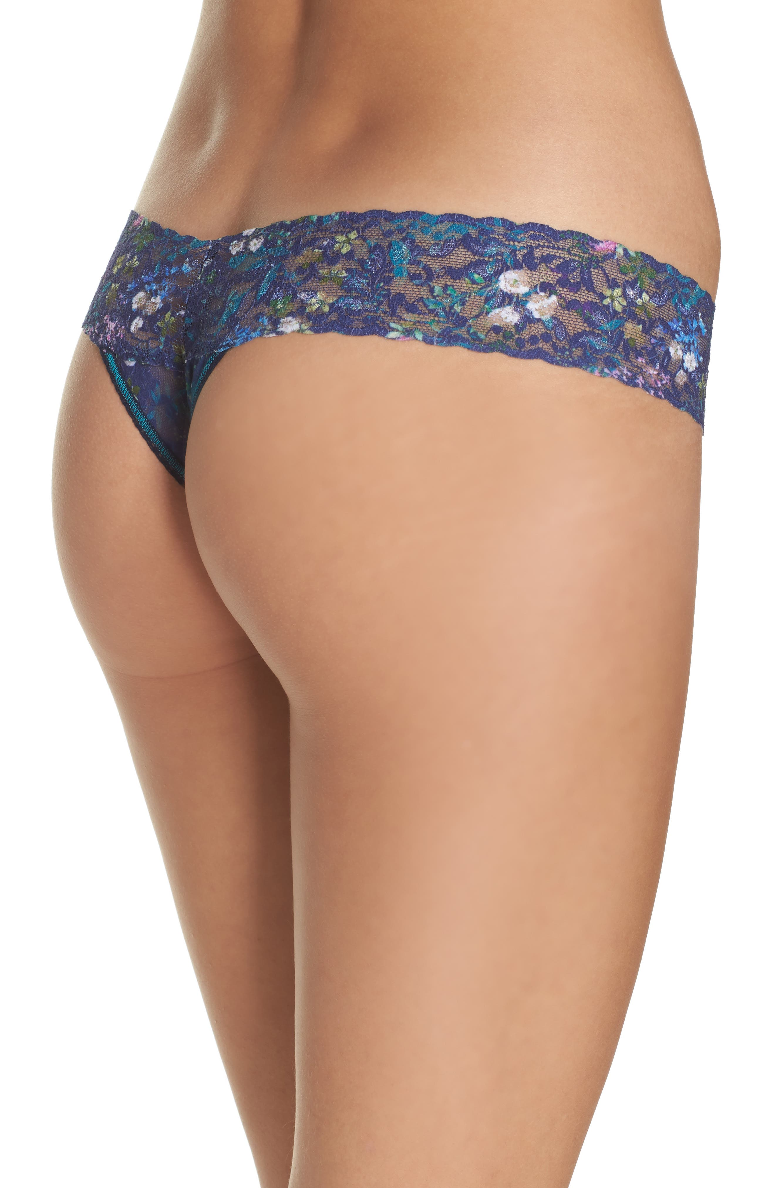 Print Low Rise Thong,                             Alternate thumbnail 26, color,