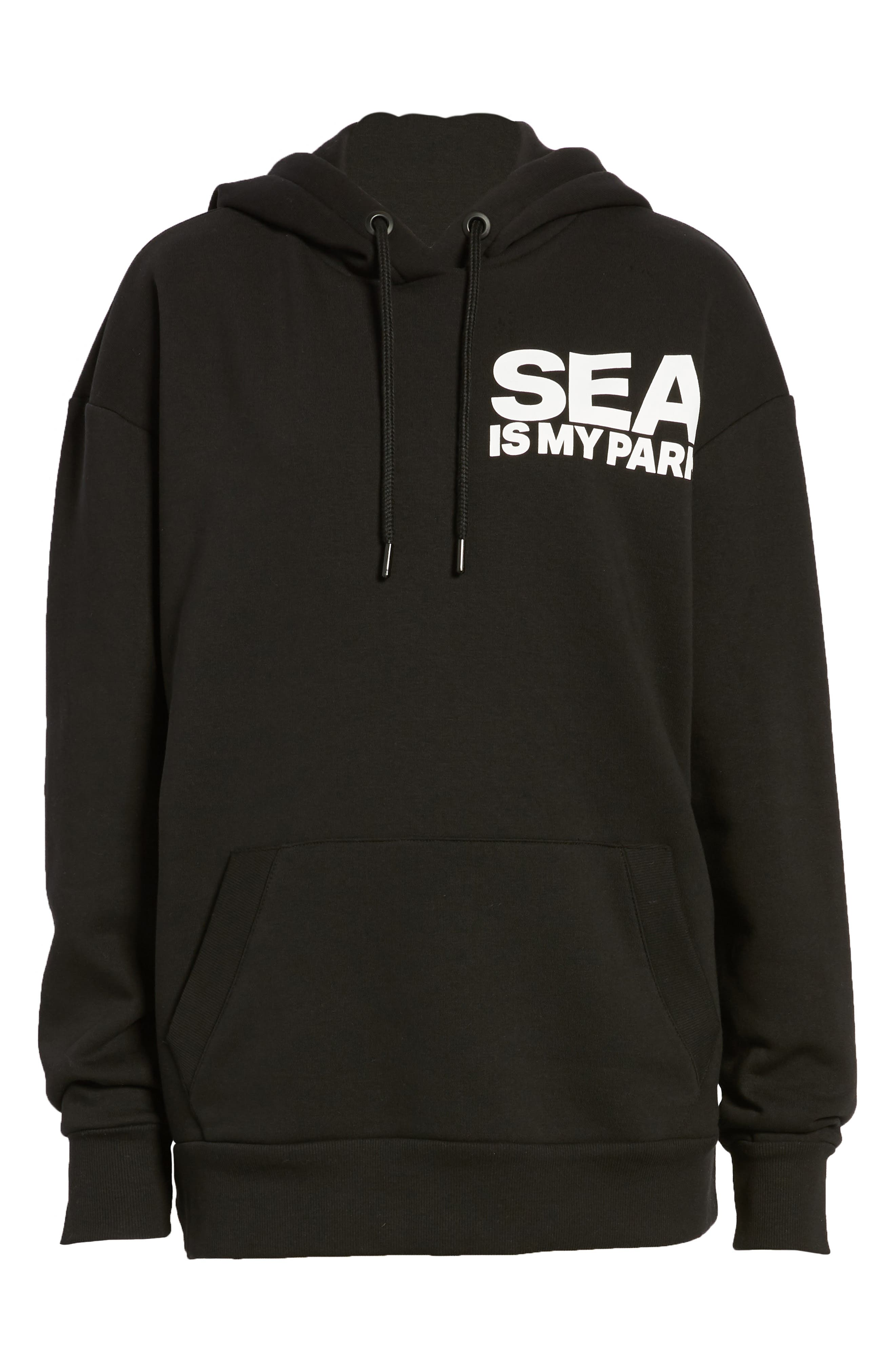 On The Run Seattle Graphic Hoodie,                             Alternate thumbnail 7, color,                             001