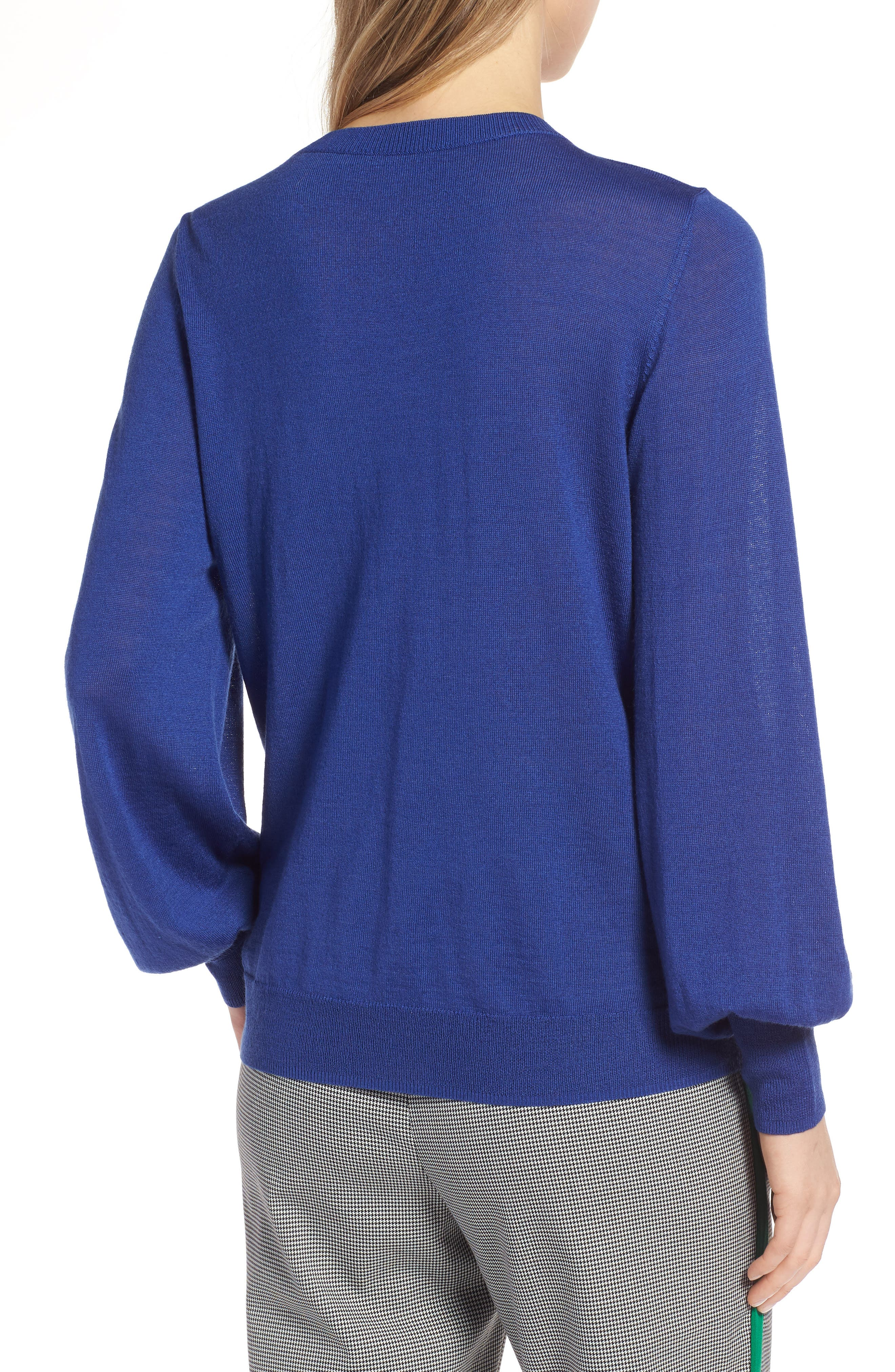 Puff Sleeve Sweater,                             Alternate thumbnail 15, color,